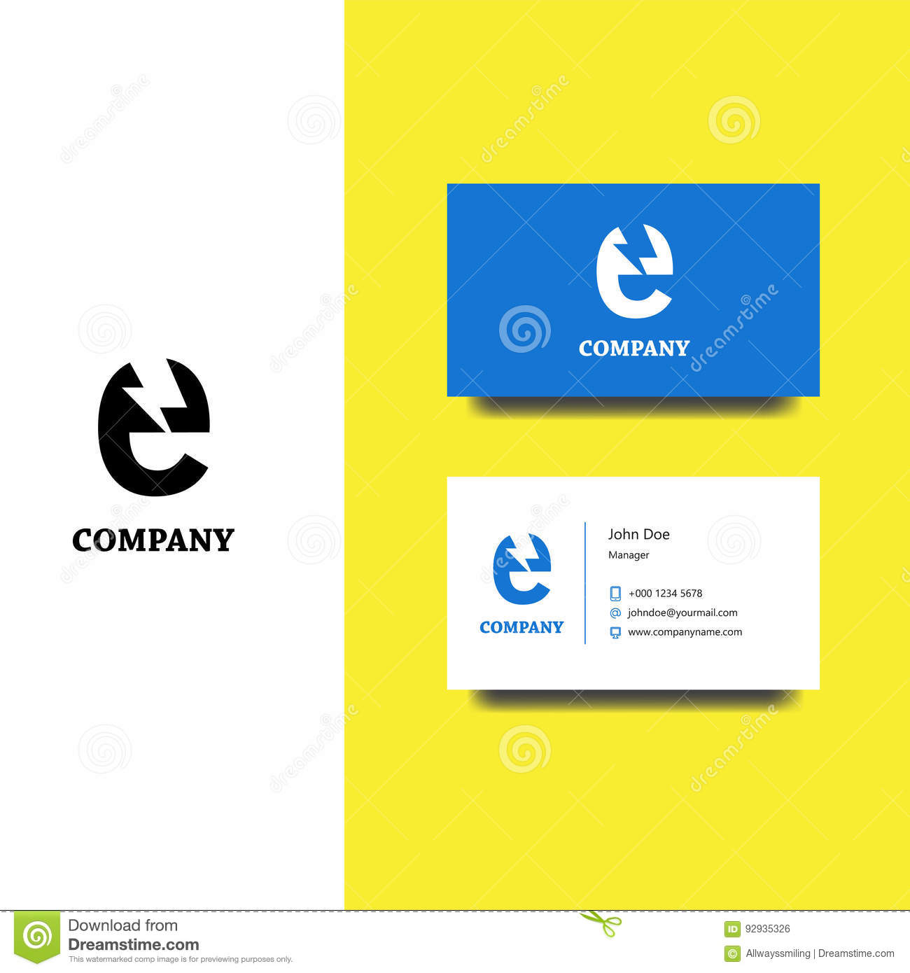 Electronics Services Or Goods Company Logo And Business Card ...