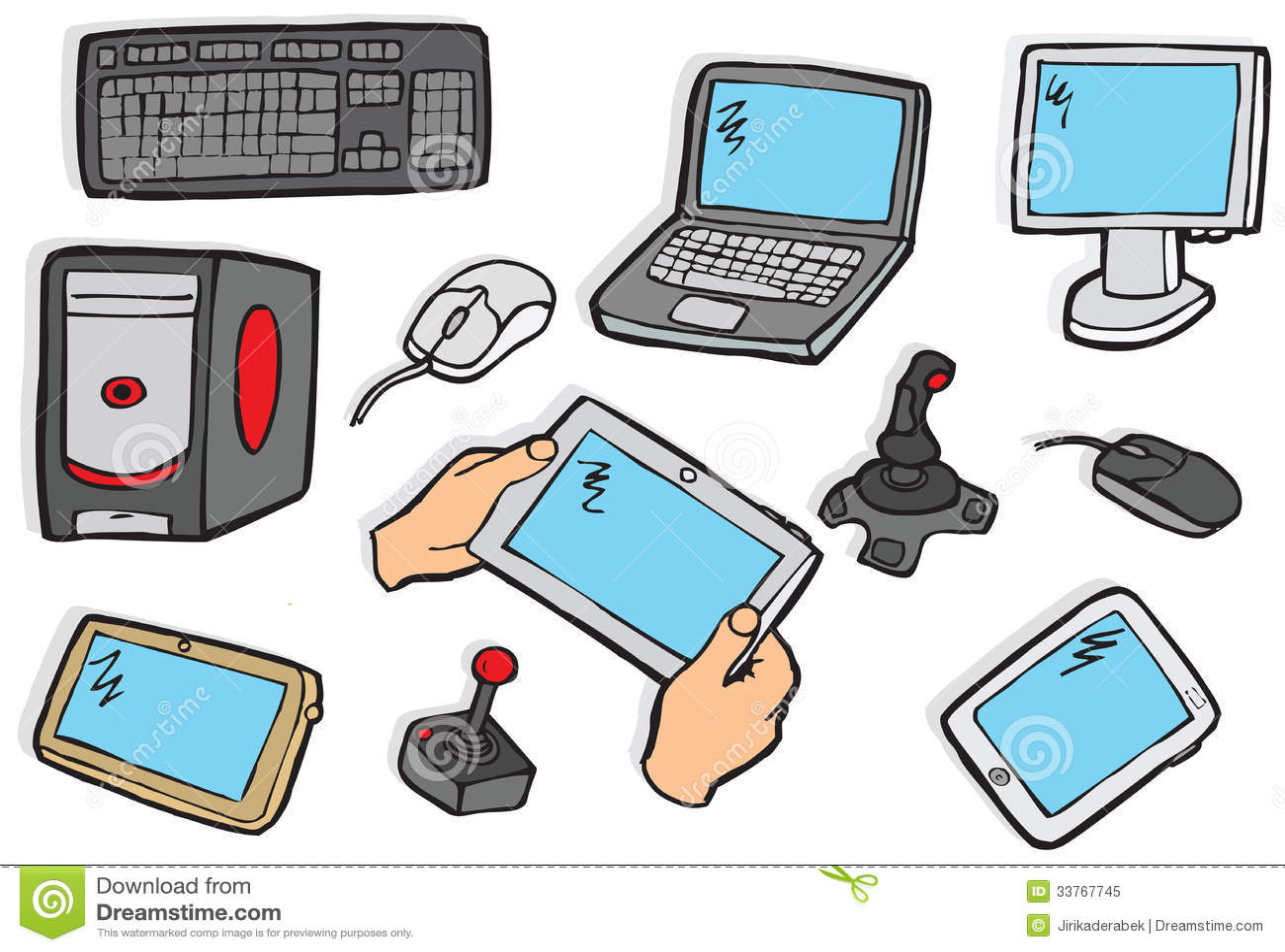 Electronics Symbols Stock Vector Illustration Of Media 33767745