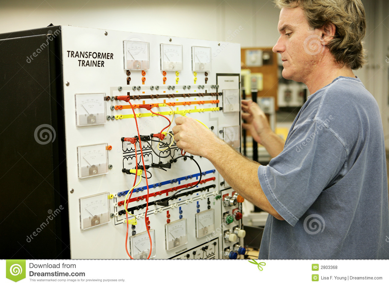 Transformer Wiring Board Trainer Excellent Electrical Isolation Free Download Diagrams Pictures Electronics Training Royalty Stock Photos Image 2803368 Up A