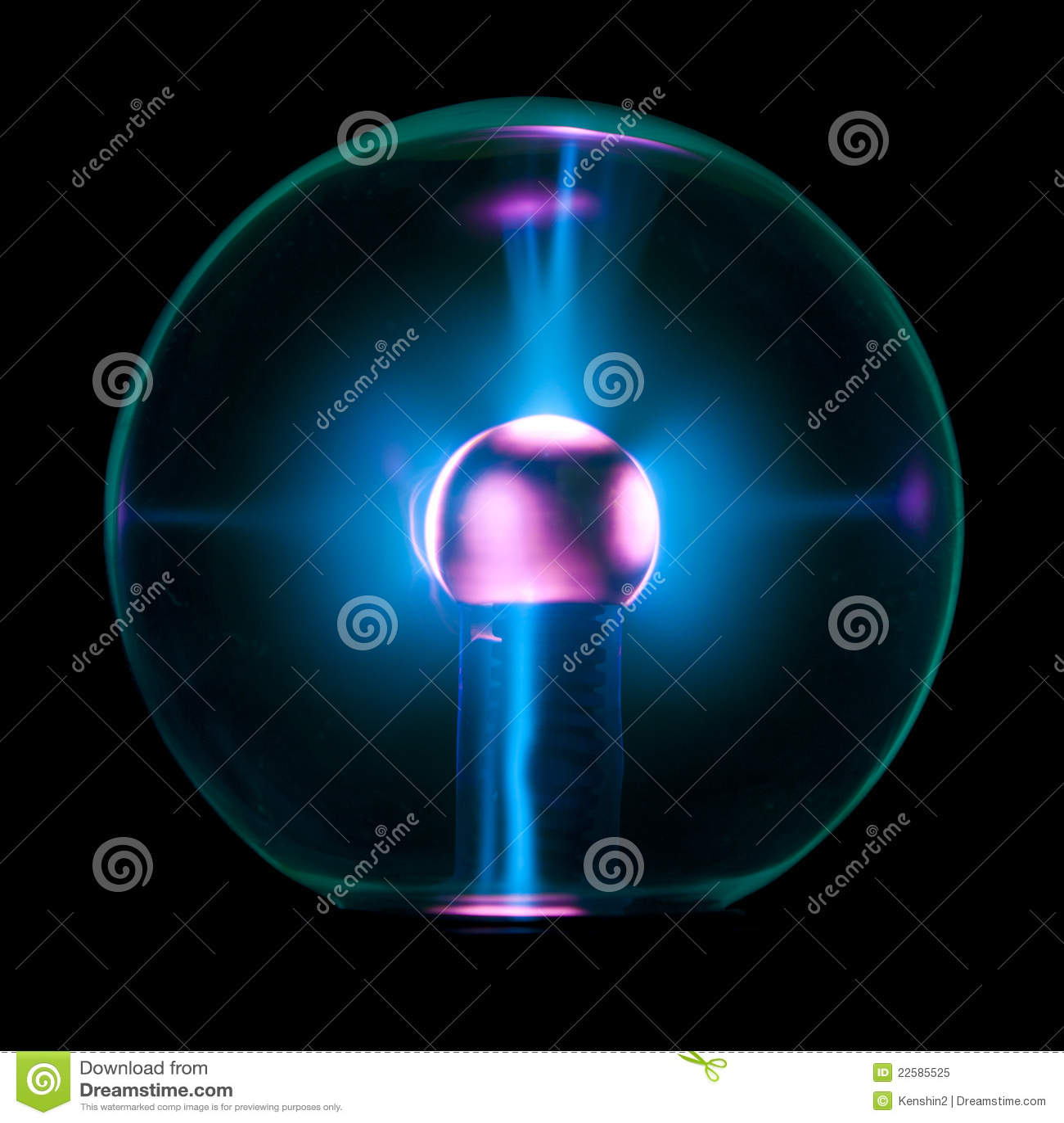 Electrostatic ball stock image. Image of pattern, globe ...