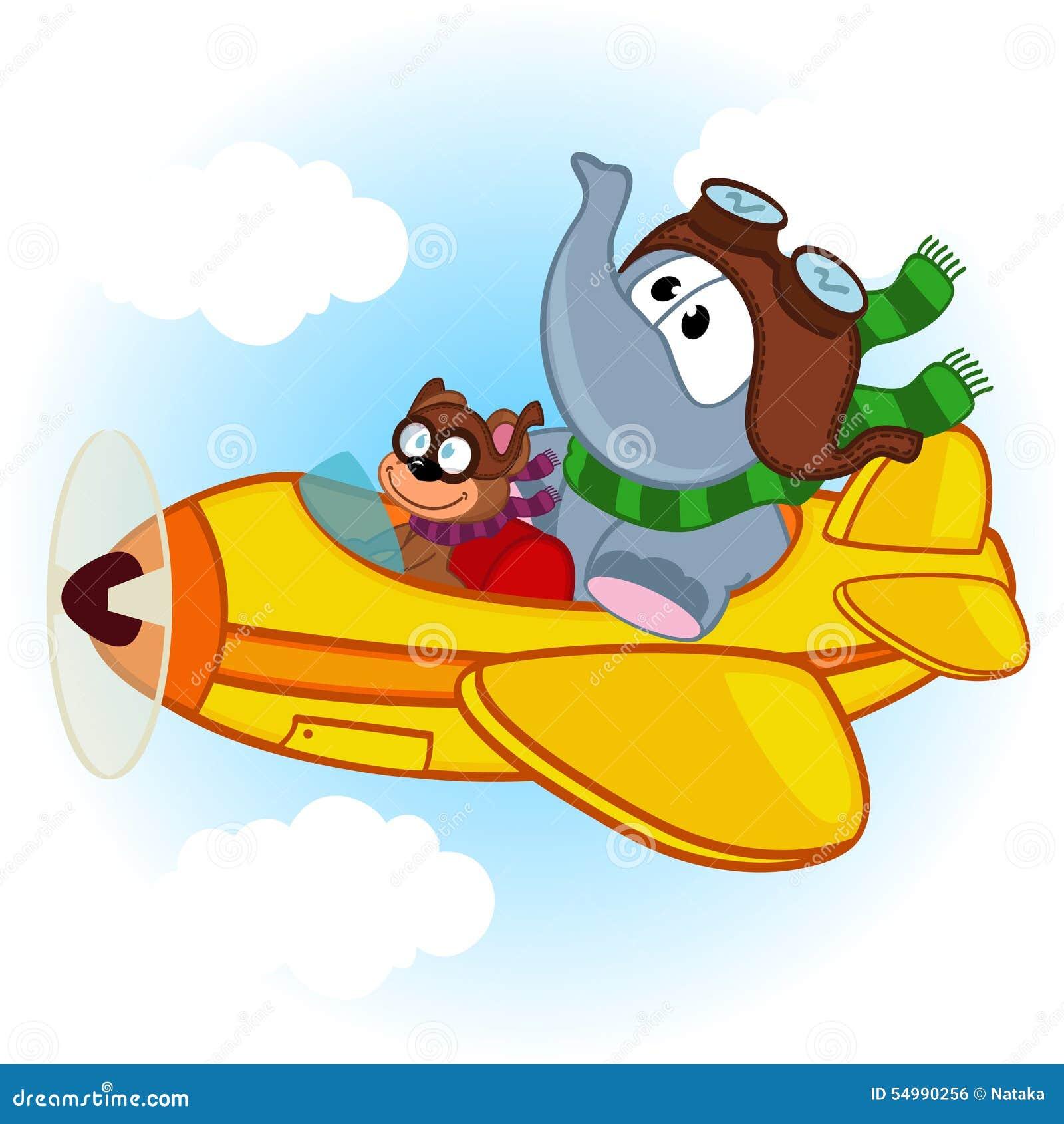 Elefant och mus på flygplanet