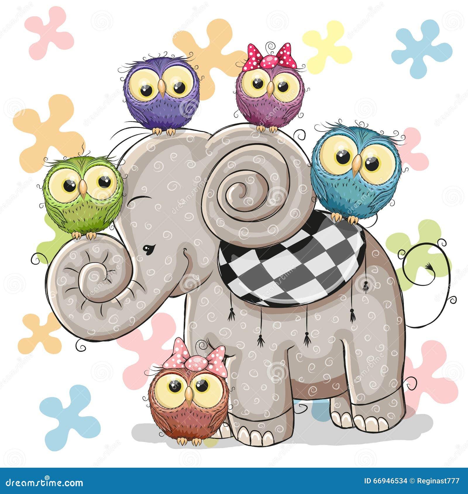 Elefant och ugglor
