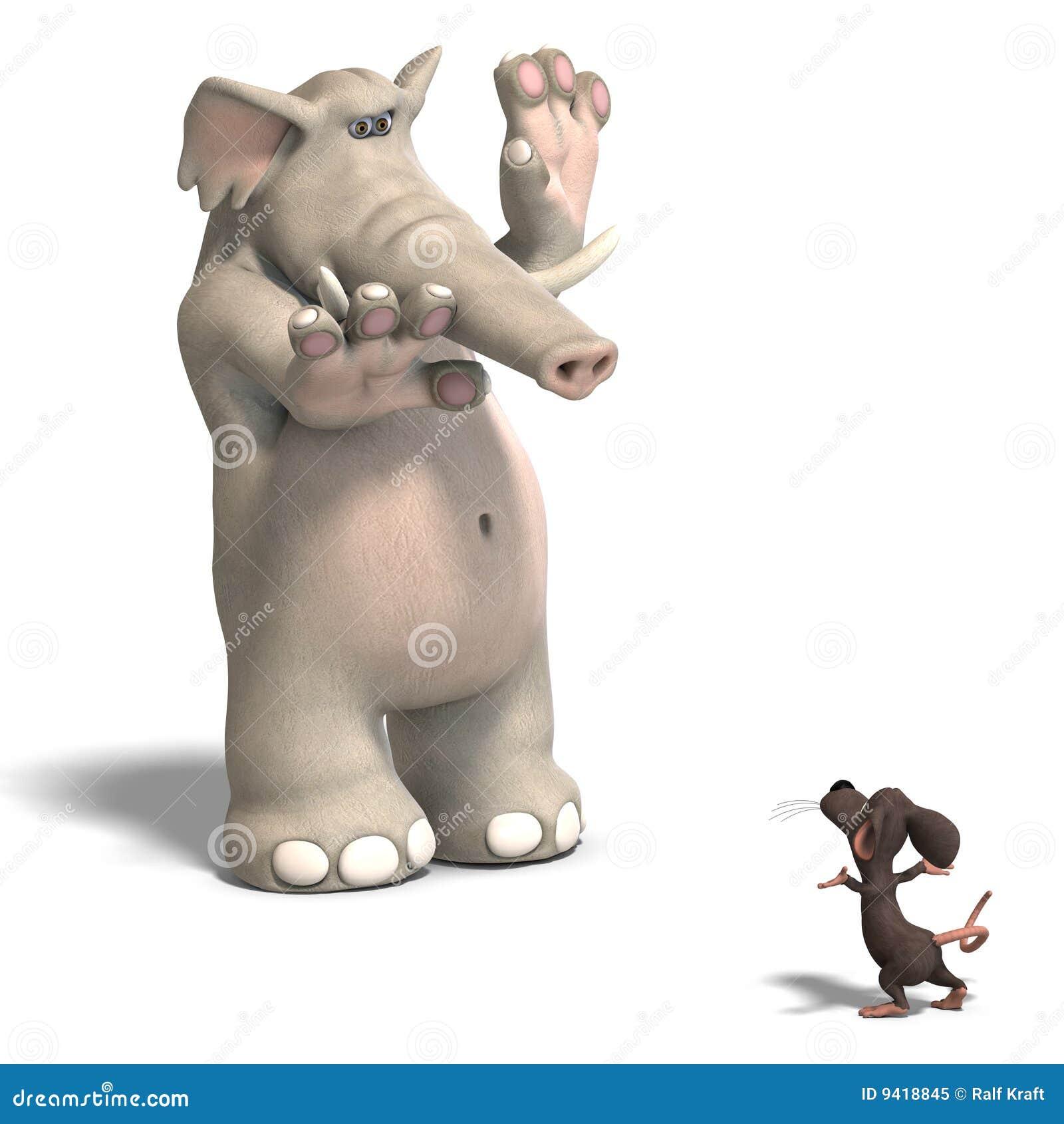 elefant und maus stock abbildung illustration von