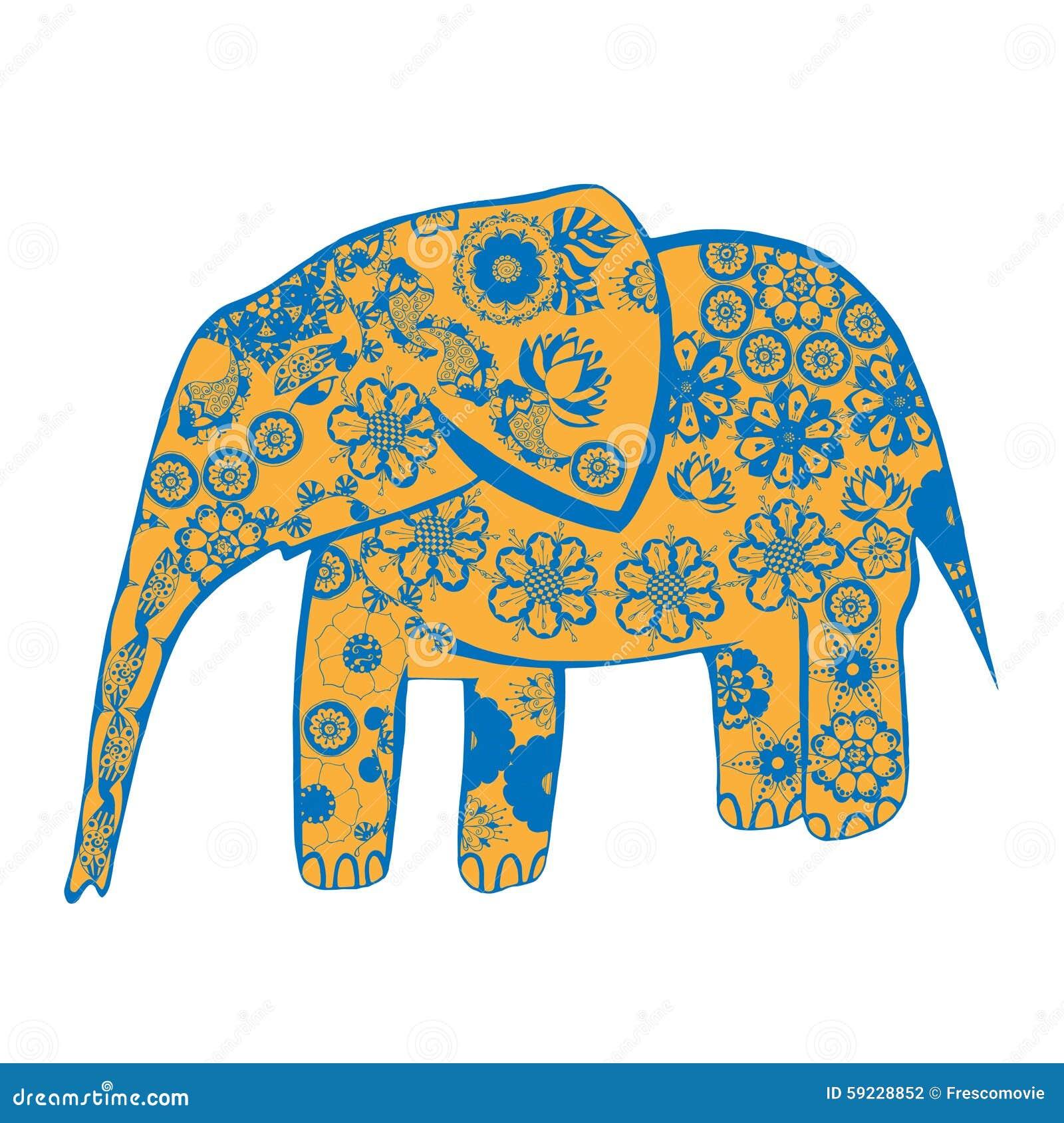 Download Elefante ilustración del vector. Ilustración de fantasía - 59228852