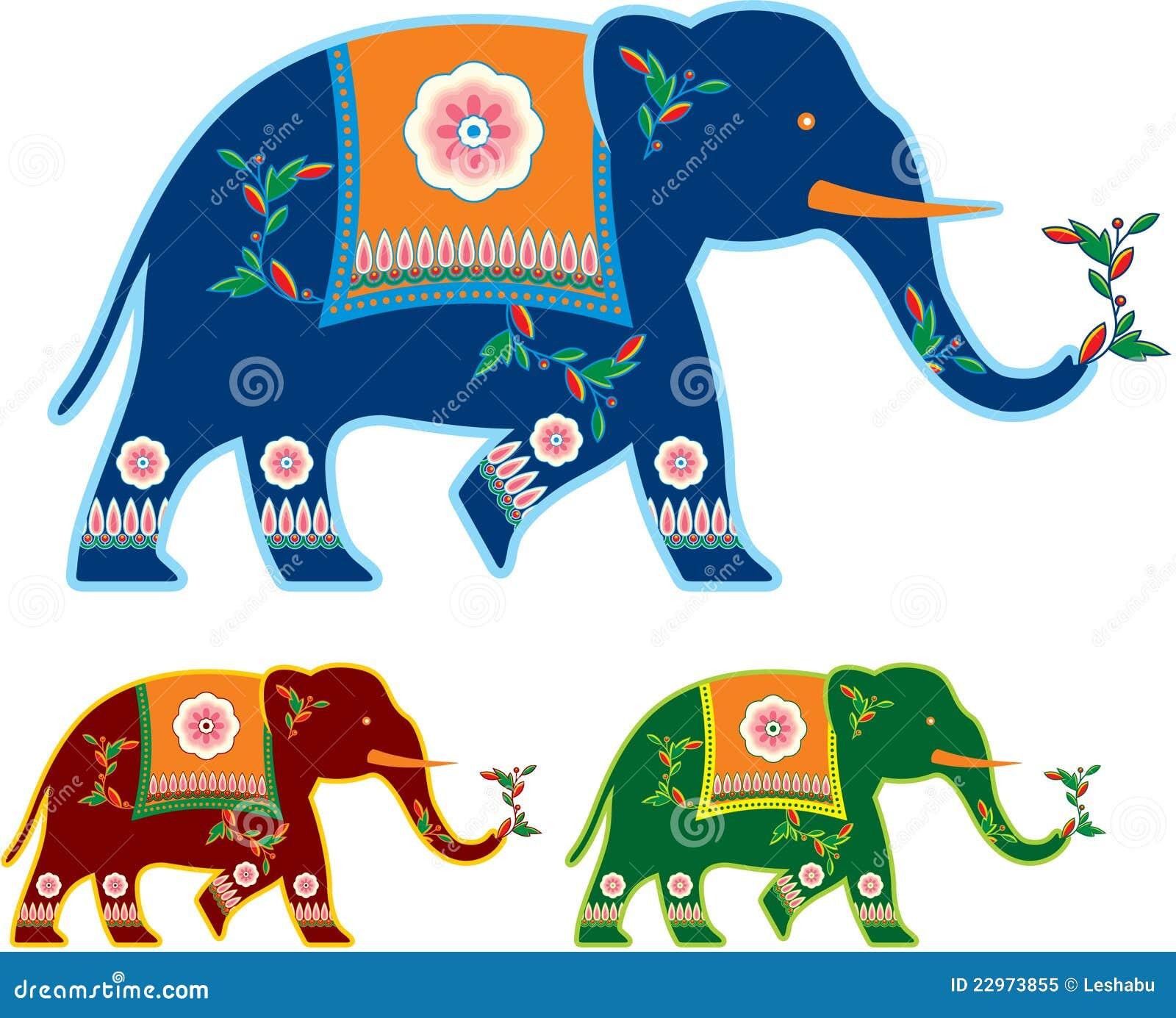 Elefante adornado indio