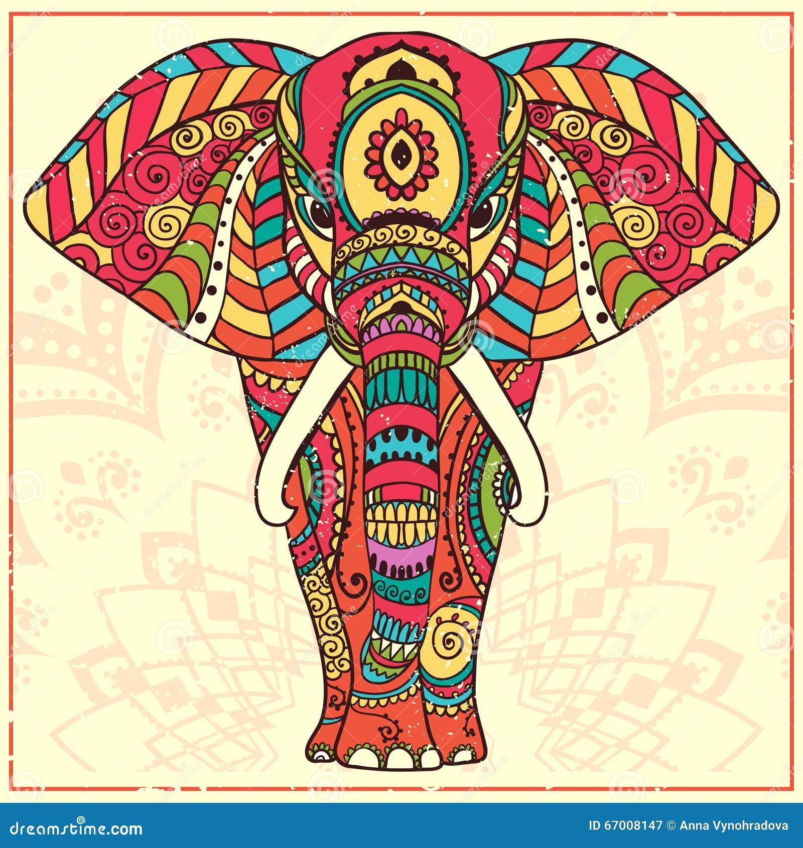 Elefante Color Ilustraci 243 N Del Vector Imagen 67008147