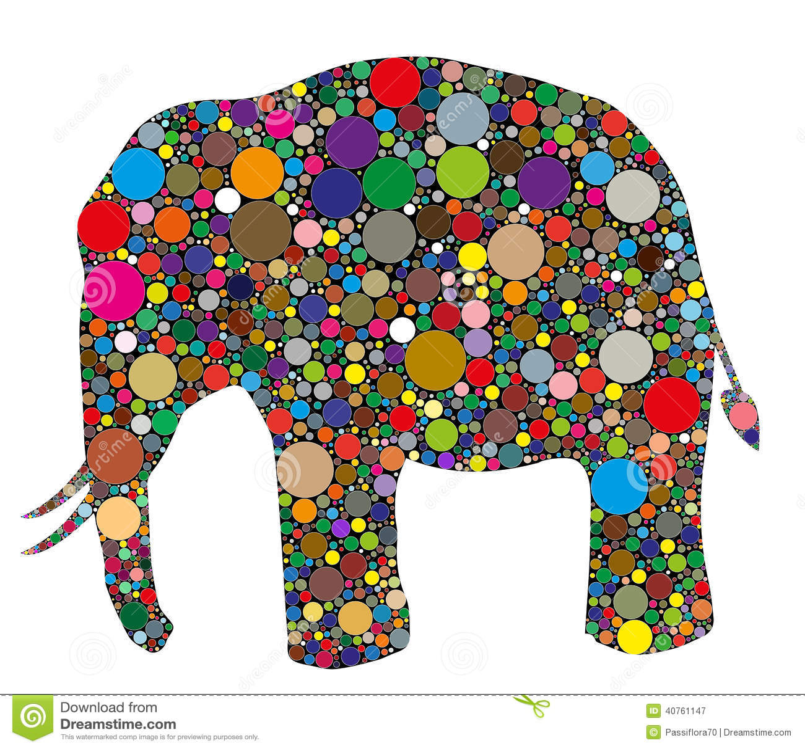 Elefante Compuesto De Colores Ilustraci 243 N Del Vector