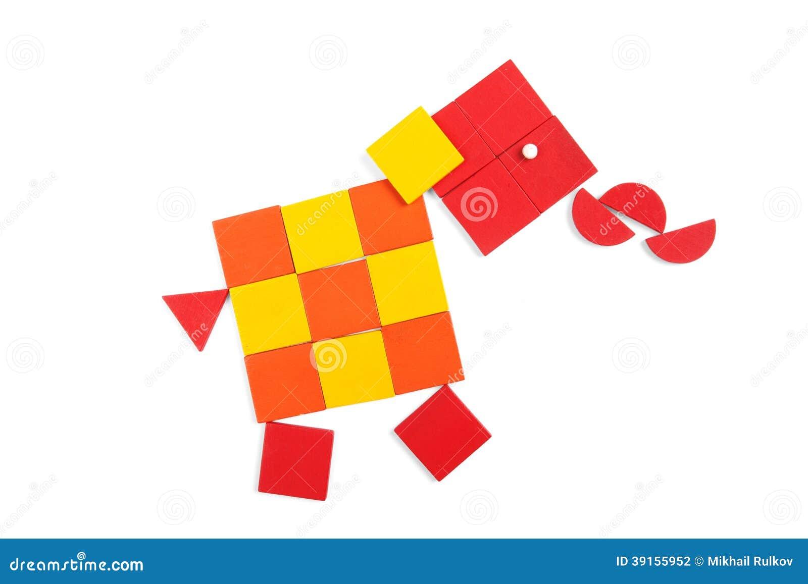 Elefante De Figuras Geométricas Stock De Ilustración Ilustración