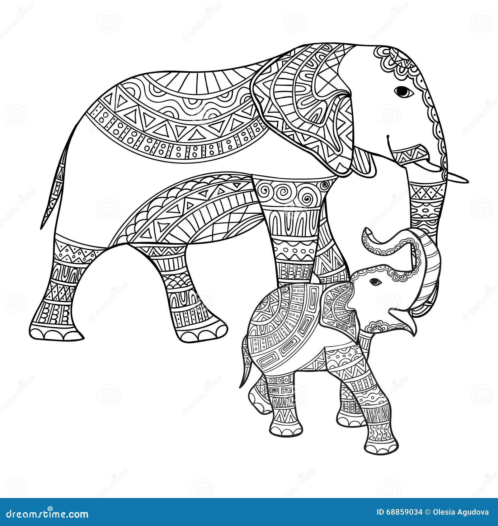 Moderno Lindo Elefante Bebé Para Colorear Foto - Dibujos Para ...