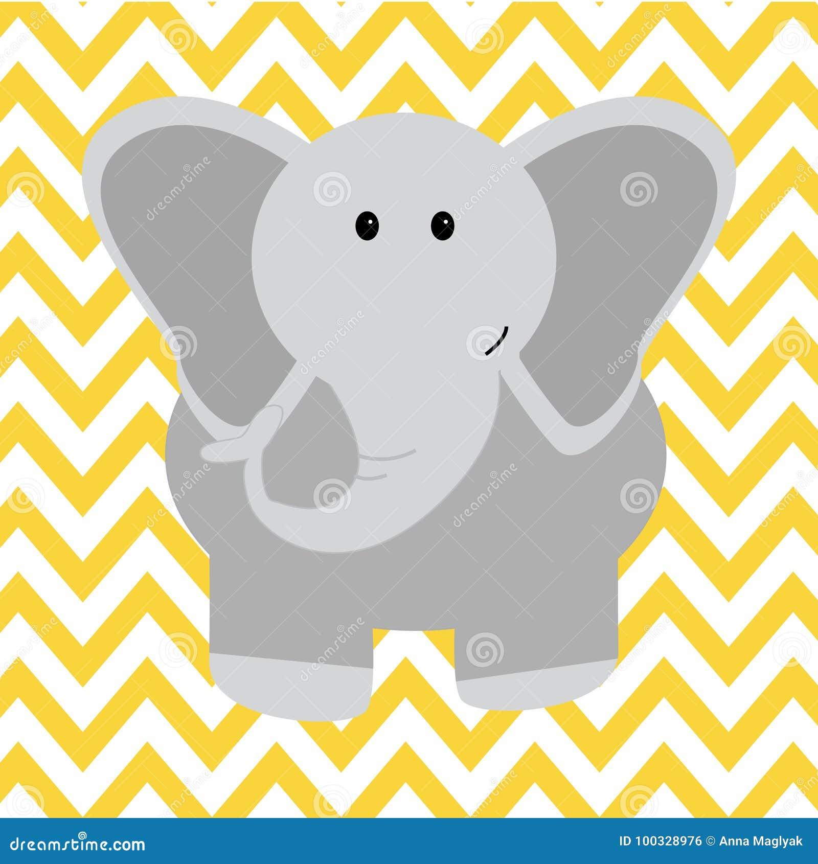 Elefante Dibujado Mano Del Ejemplo Del Personaje De Dibujos Animados