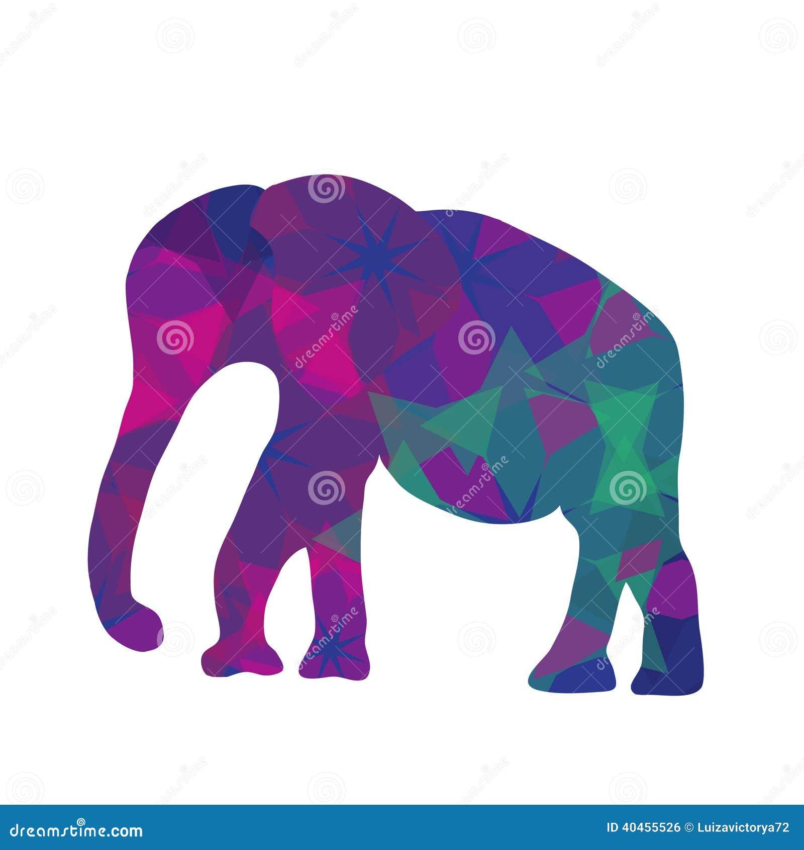 elefante do mosaico dos desenhos animados ilustração do vetor