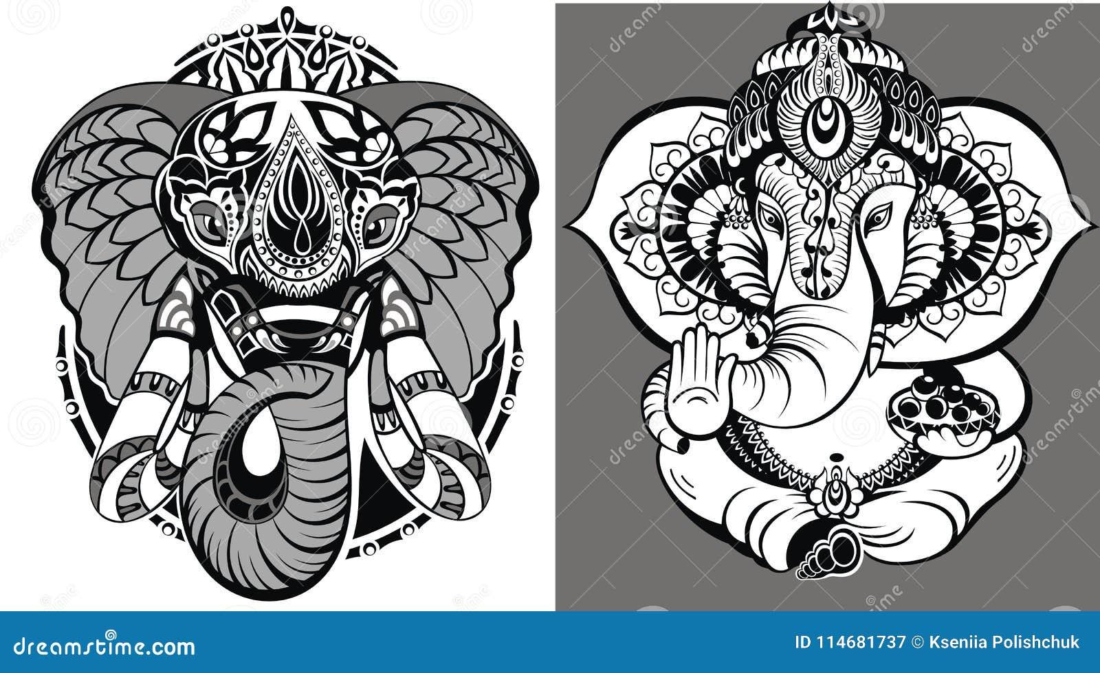 Elefante indù Lord Ganesha
