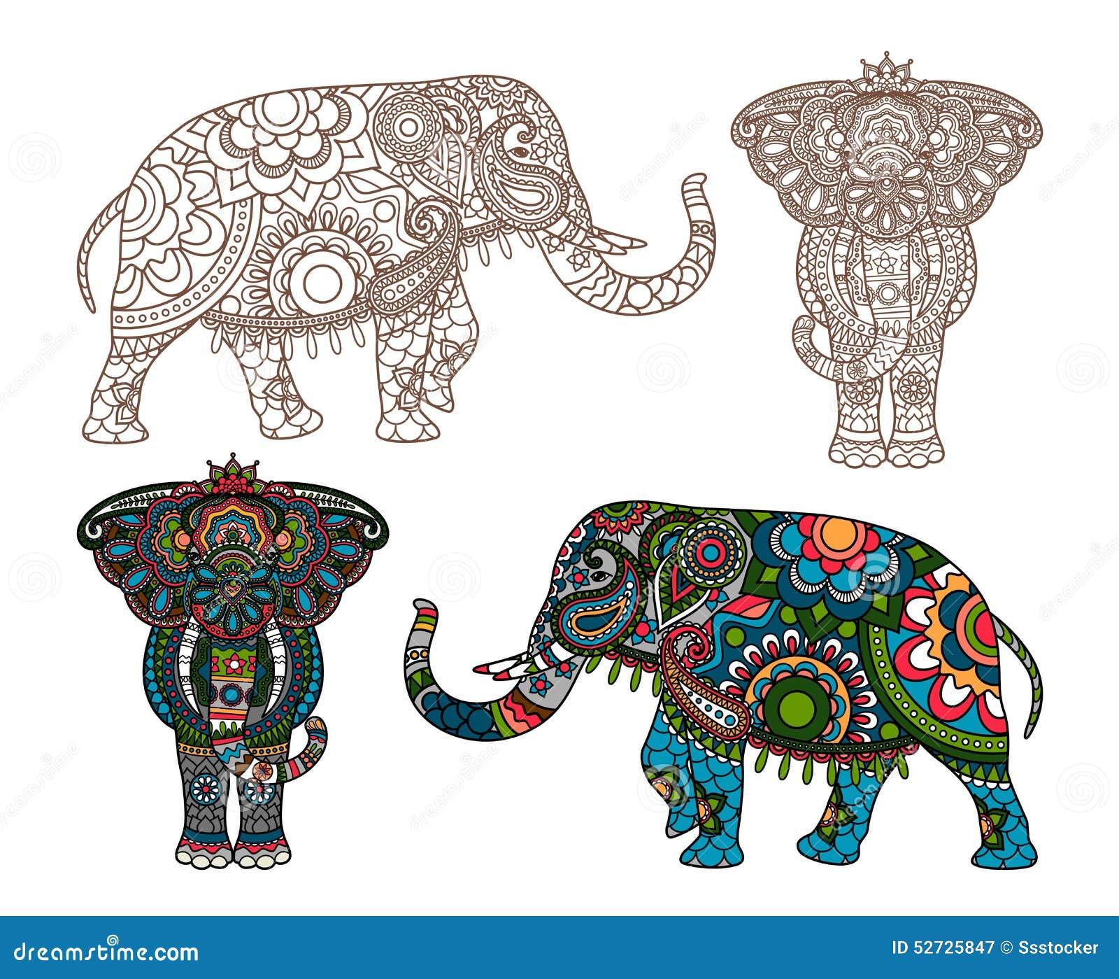 Elefante indiano di vettore