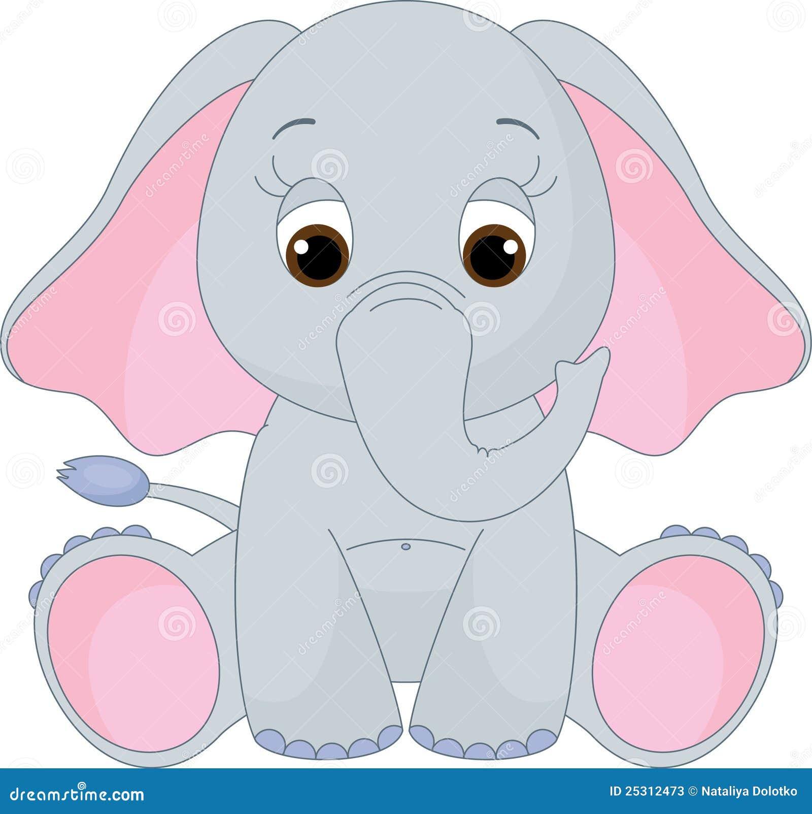 Elefante lindo del bebé