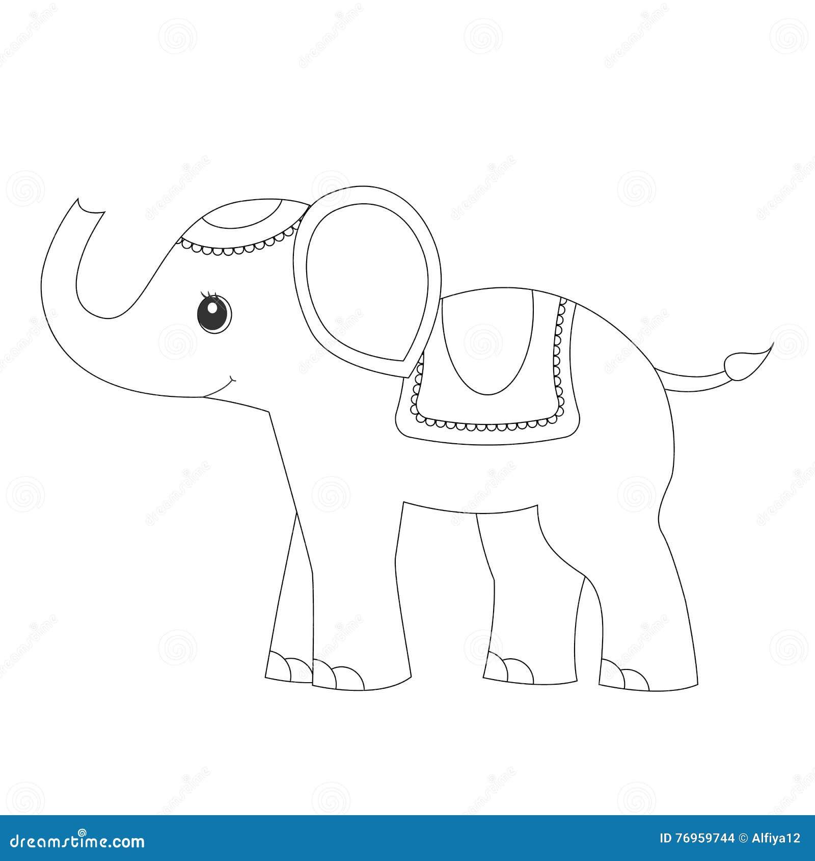 Elefante Páginas Del Colorante De La Página Que Colorean Para Los ...