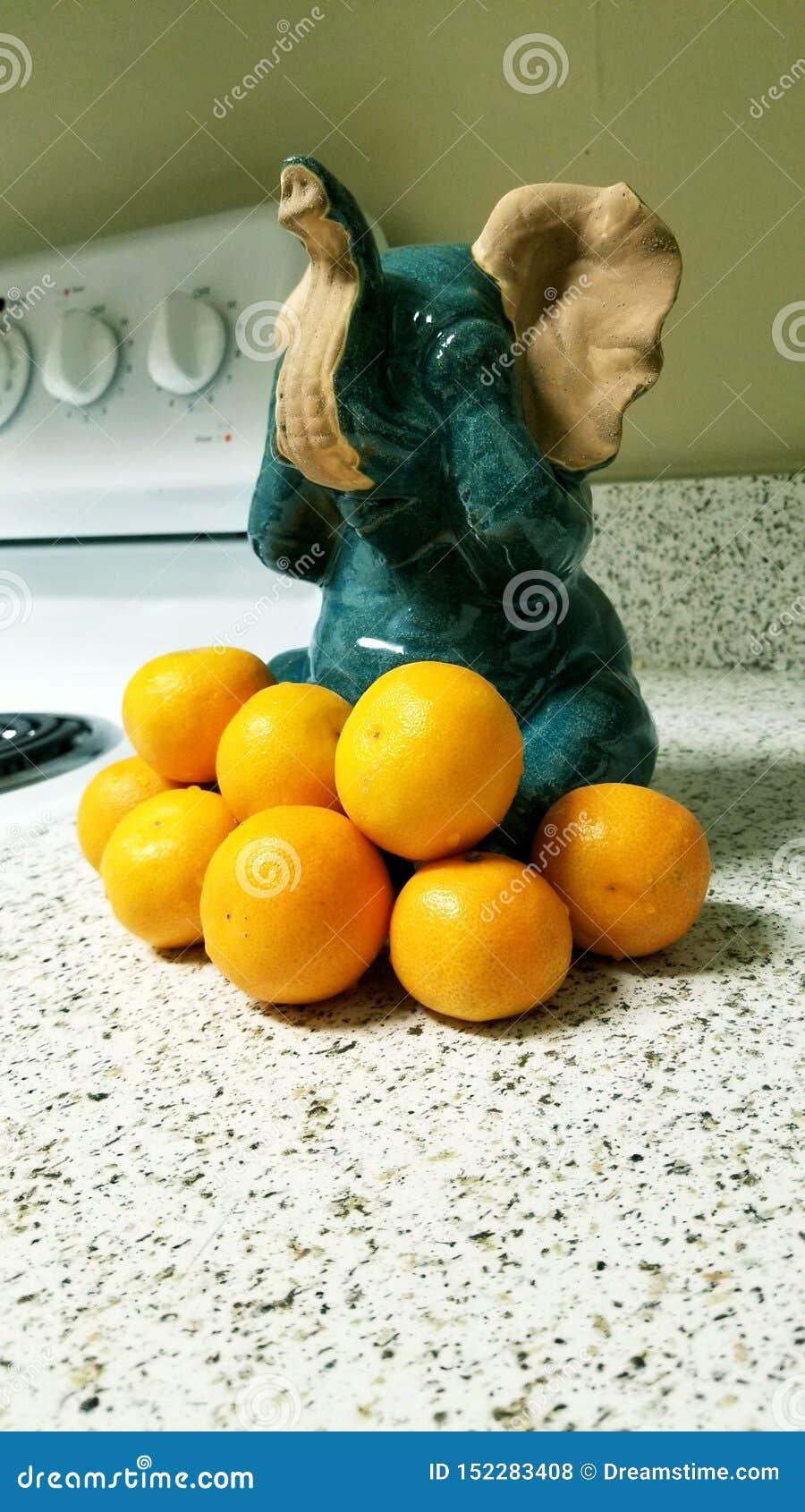 Elefantes y naranjas