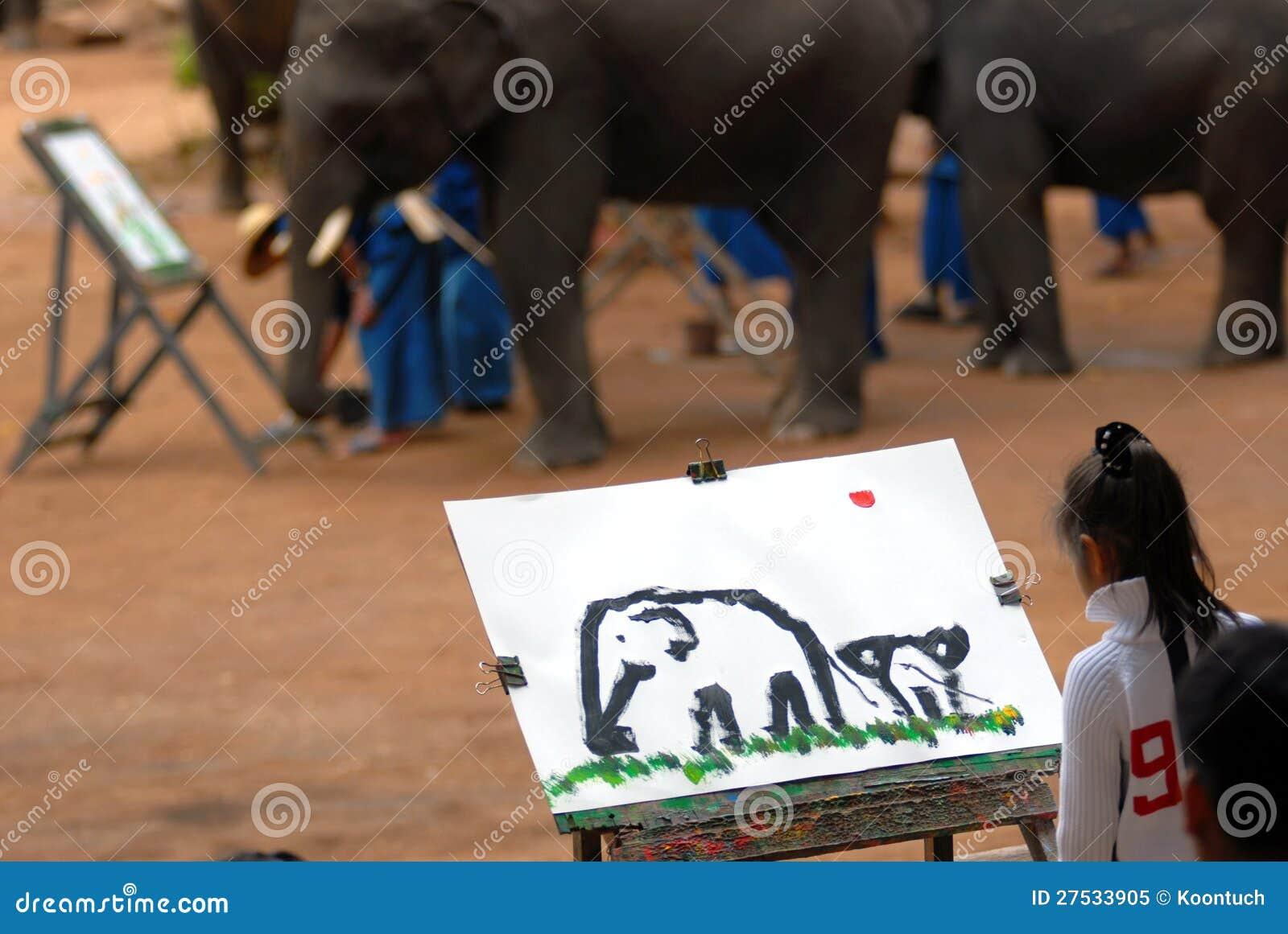 Elefantteckning. [2]