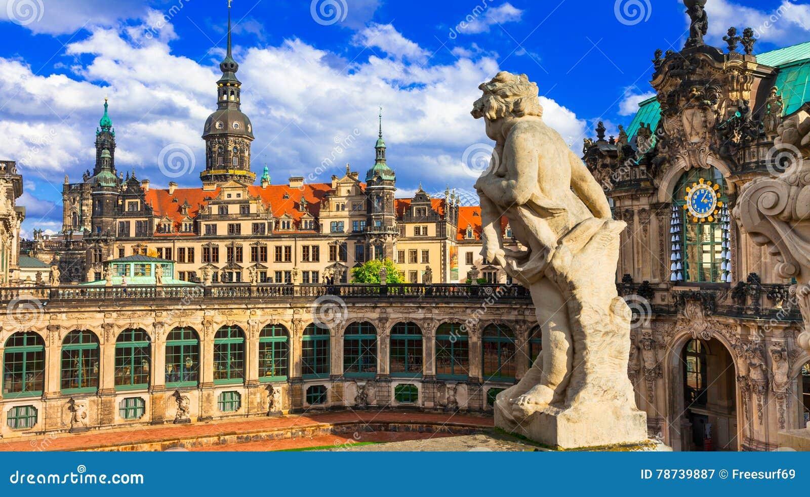 Elegan романтичный Дрезден, музей Zwinger Германия