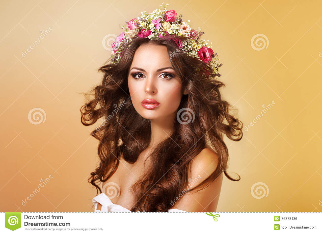Royalty free stock image elegance classy adorable lady with flowers