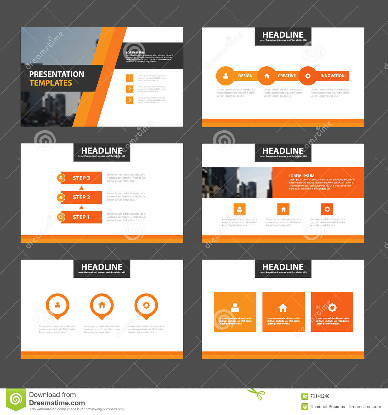 blue minimal presentation templates infographic elements flat elegance orange presentation templates infographic elements flat design set for brochure royalty stock photos