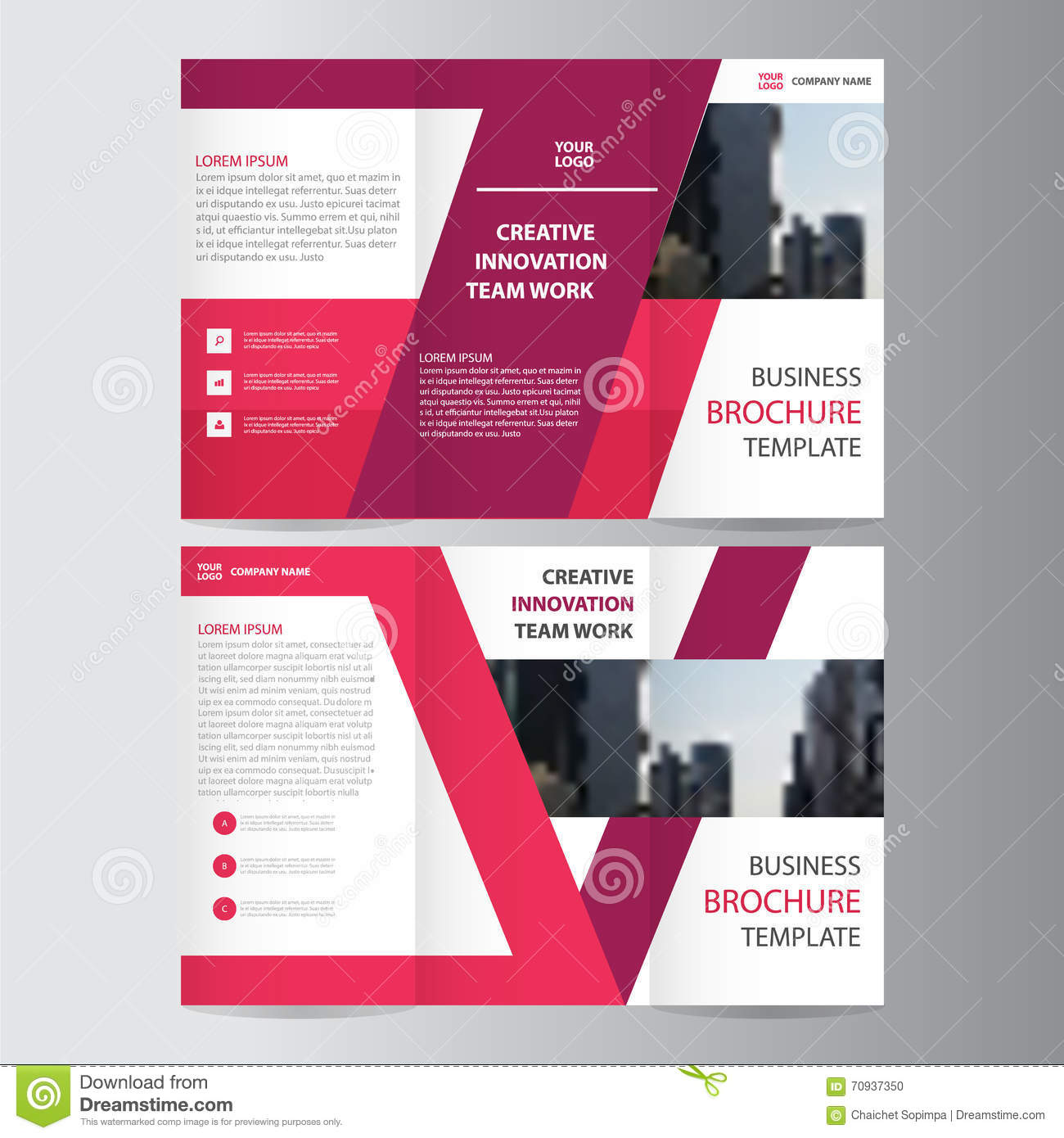 Elegance pink purple geometric elegance business trifold business download elegance pink purple geometric elegance business trifold business leaflet brochure flyer template vector minimal flat wajeb