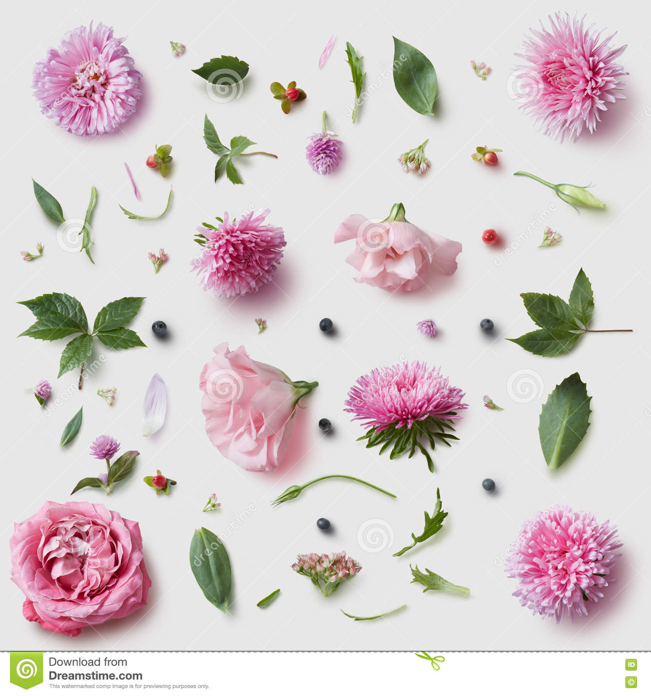 Elegance Wallpaper Pattern With Of Pink Flowers Stock Photo Image