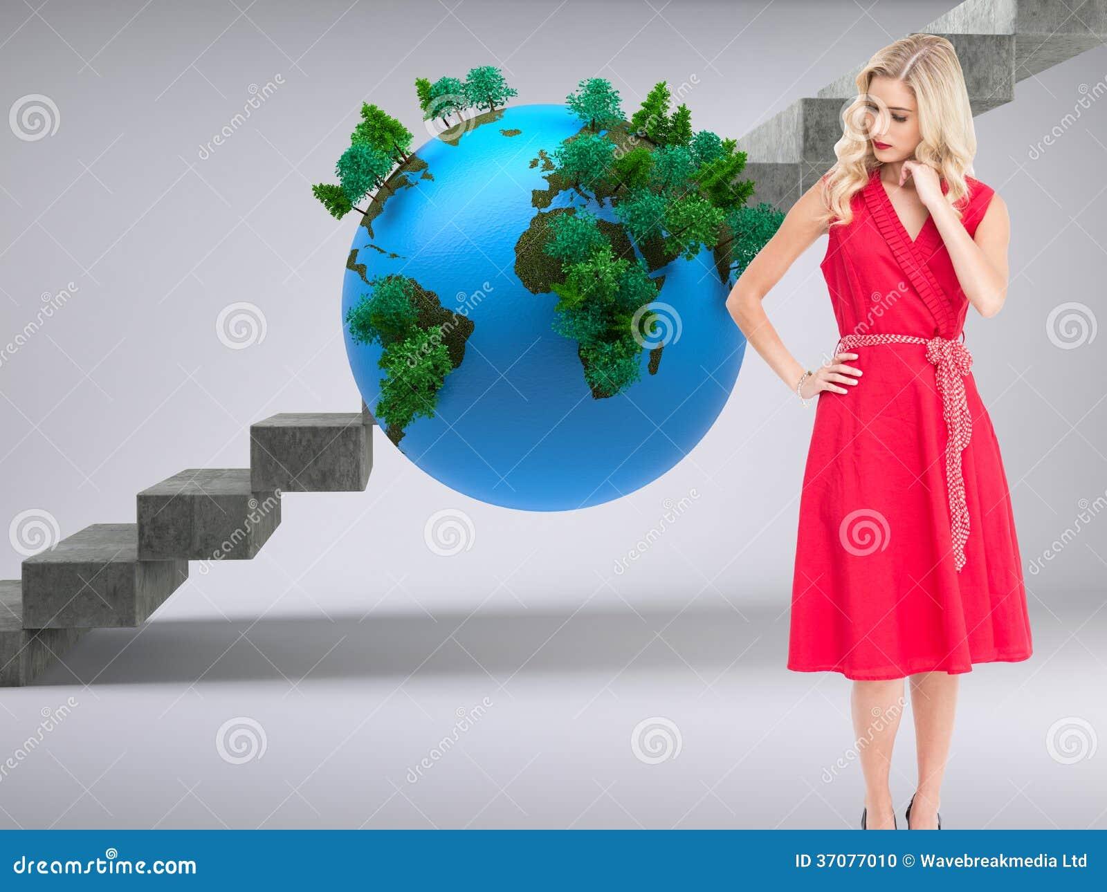 Download Elegancka Blondynki Pozyci Ręka Na Biodrze Ilustracji - Ilustracja złożonej z tekstura, atrakcyjny: 37077010