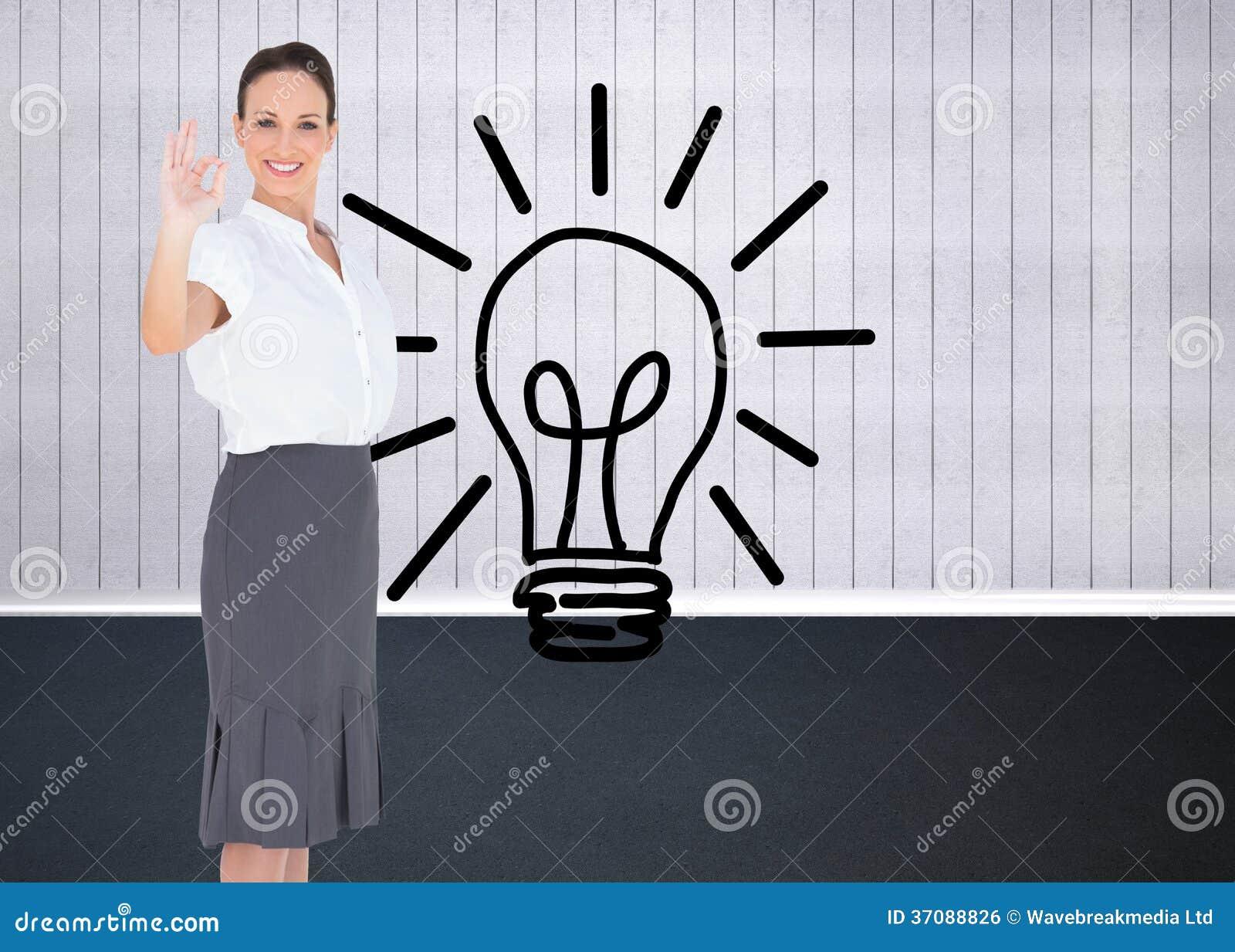 Download Elegancki Bizneswoman Pokazuje Zadowalającego Gest Zdjęcie Stock - Obraz złożonej z digitalis, osoba: 37088826