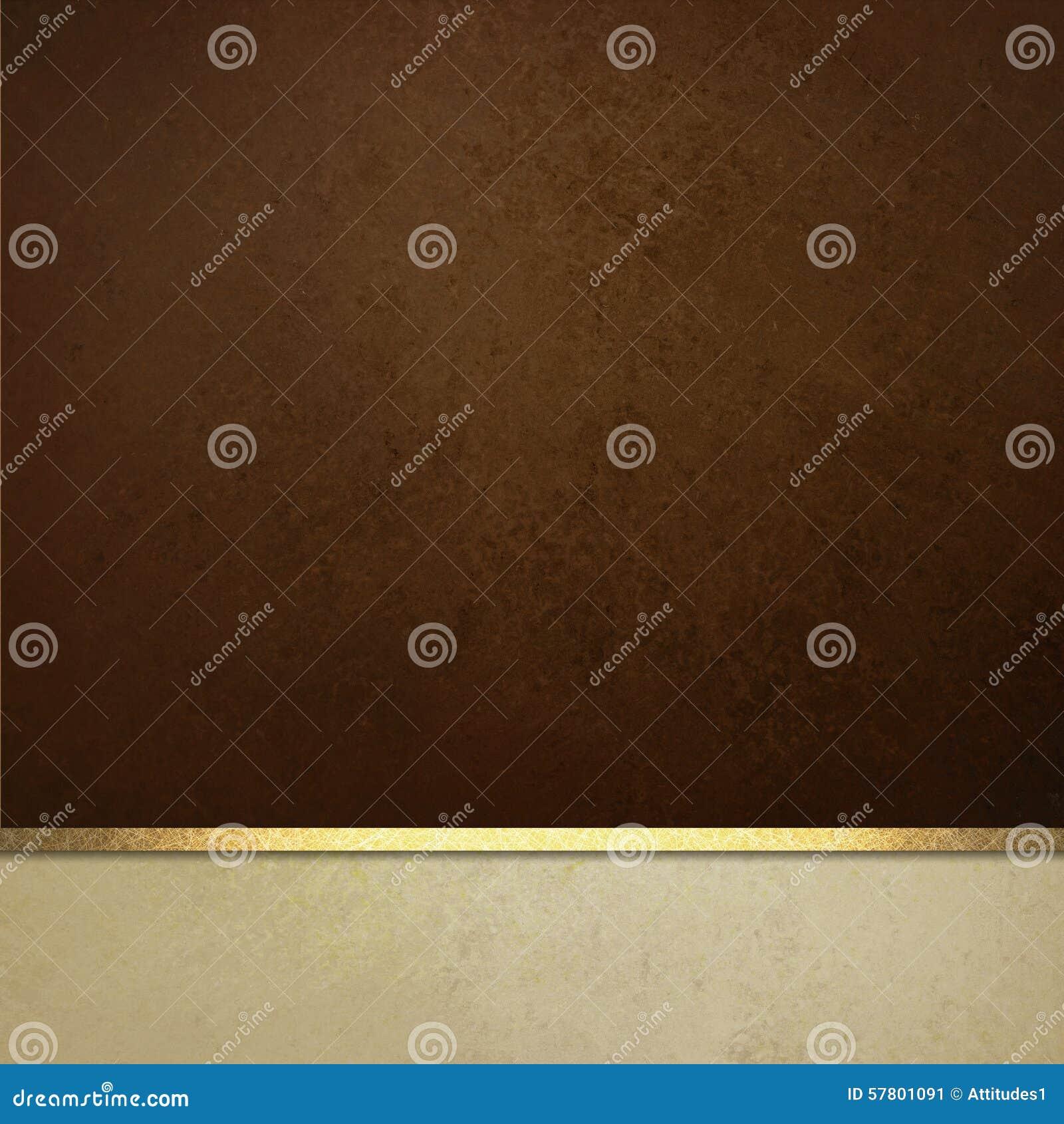 Elegancki brown papieru tło z bielu tasiemkowym podstrzyżeniem lub lampasem rabatowym i złocistym