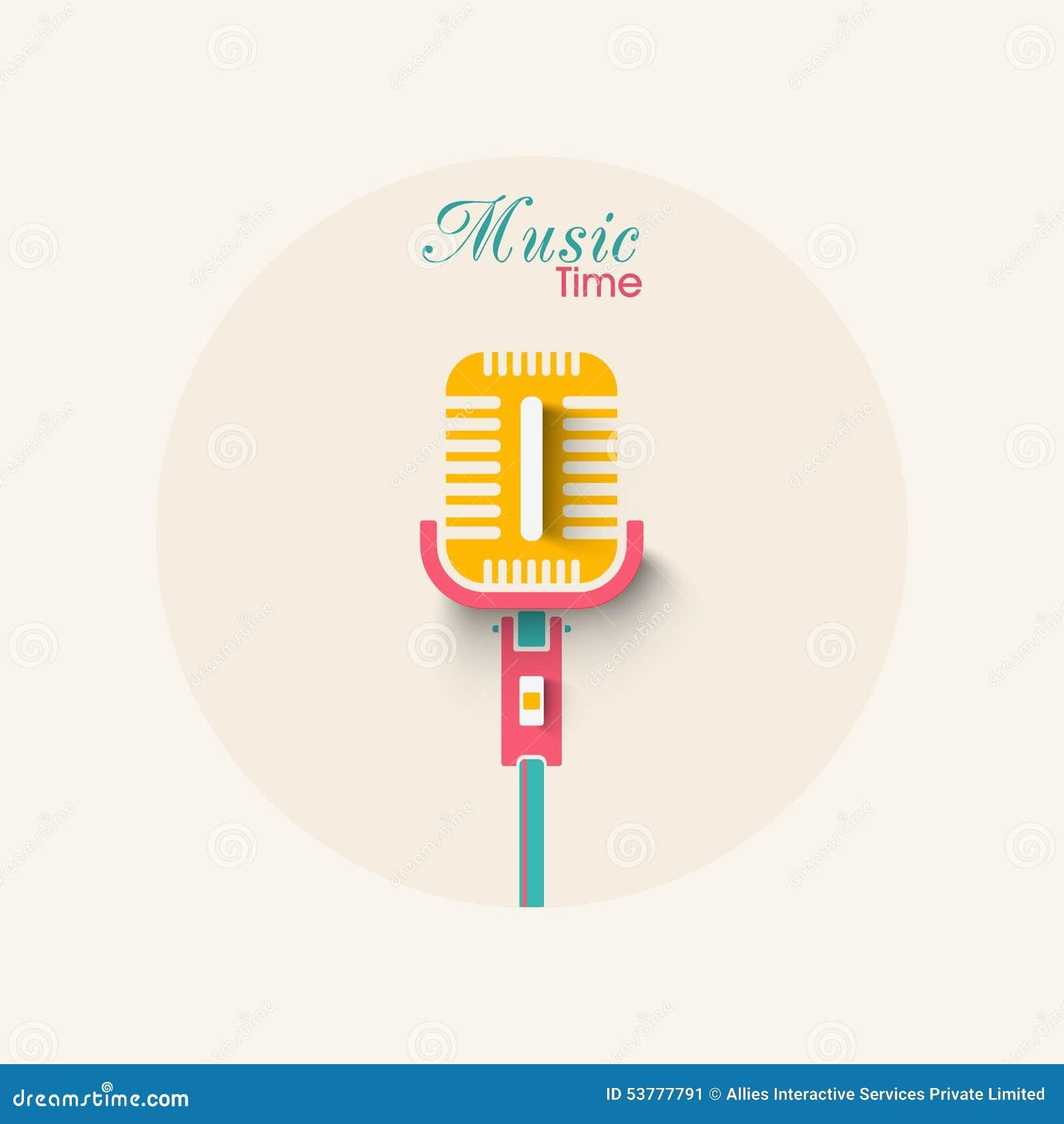 Elegancki mikrofon dla muzyki