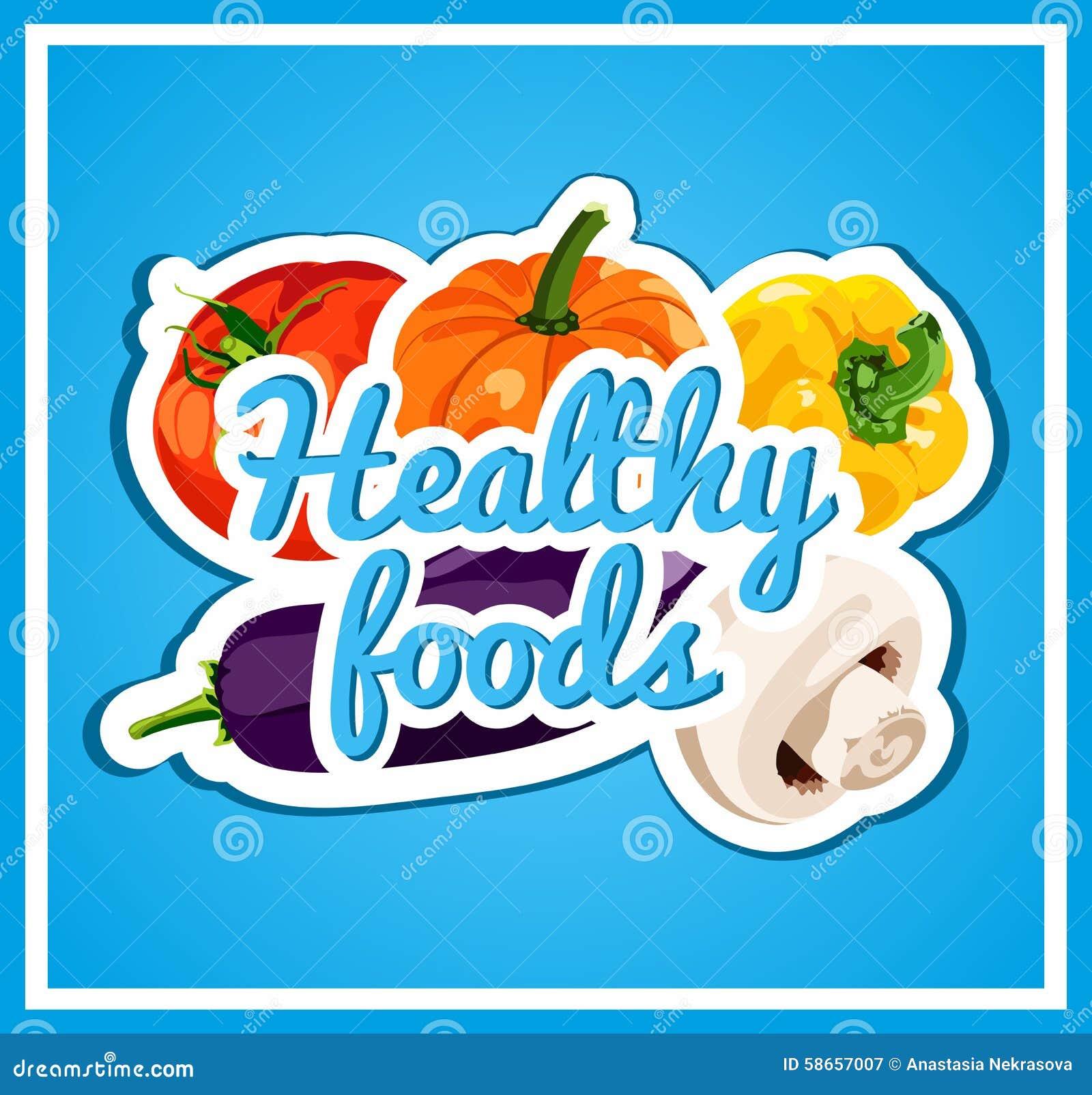 Elegancki Plakat Z Setem Wektorowi Warzywa Zdrowe Jedzenie świeży I