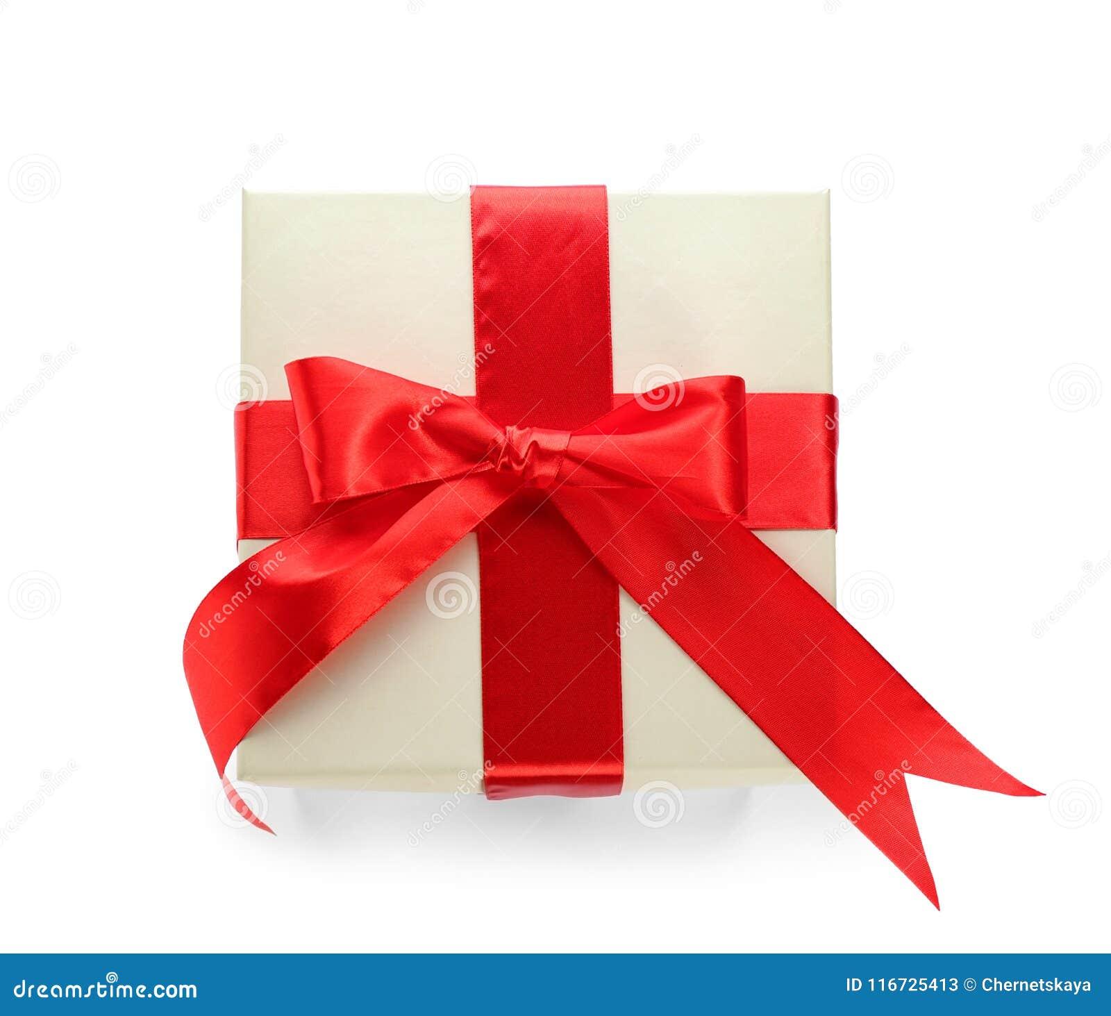 Elegancki prezenta pudełko z łękiem