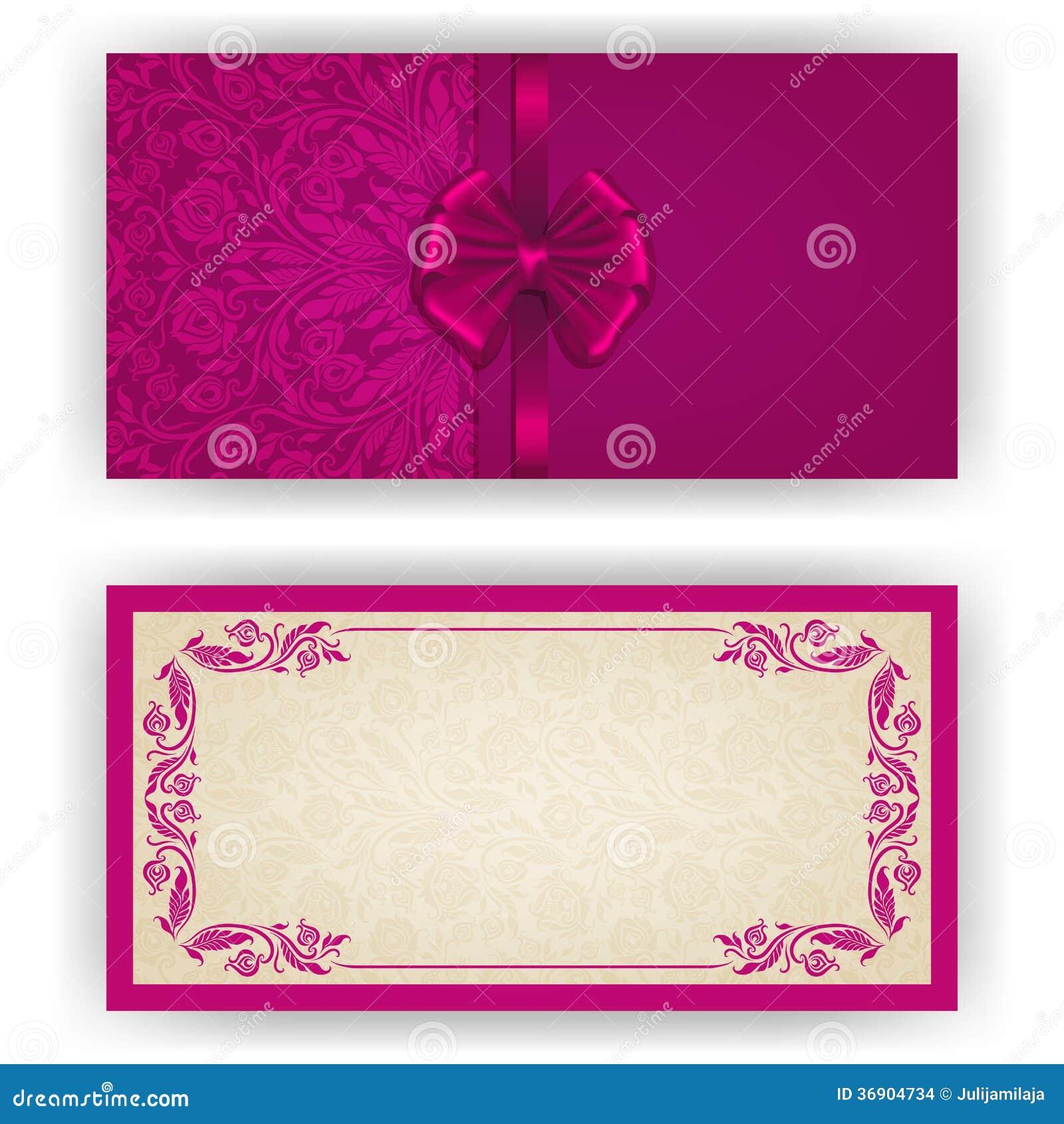 Elegancki wektorowy szablon dla zaproszenia, karta