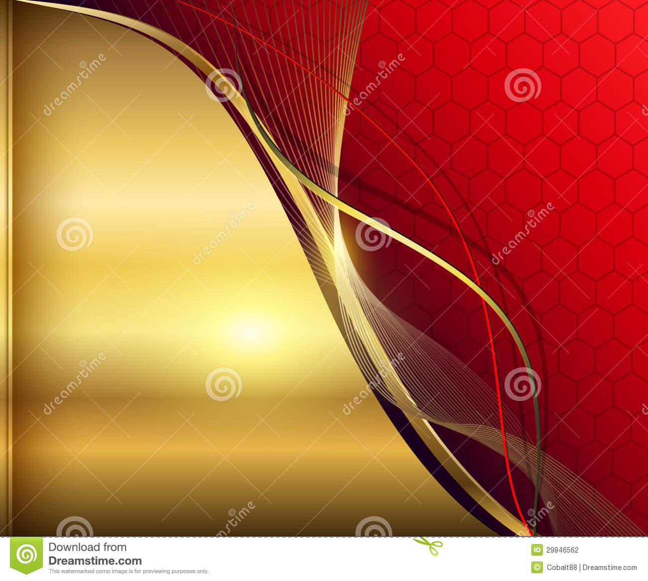 Elegant abstract background red and gold Elegant Red And Gold Background