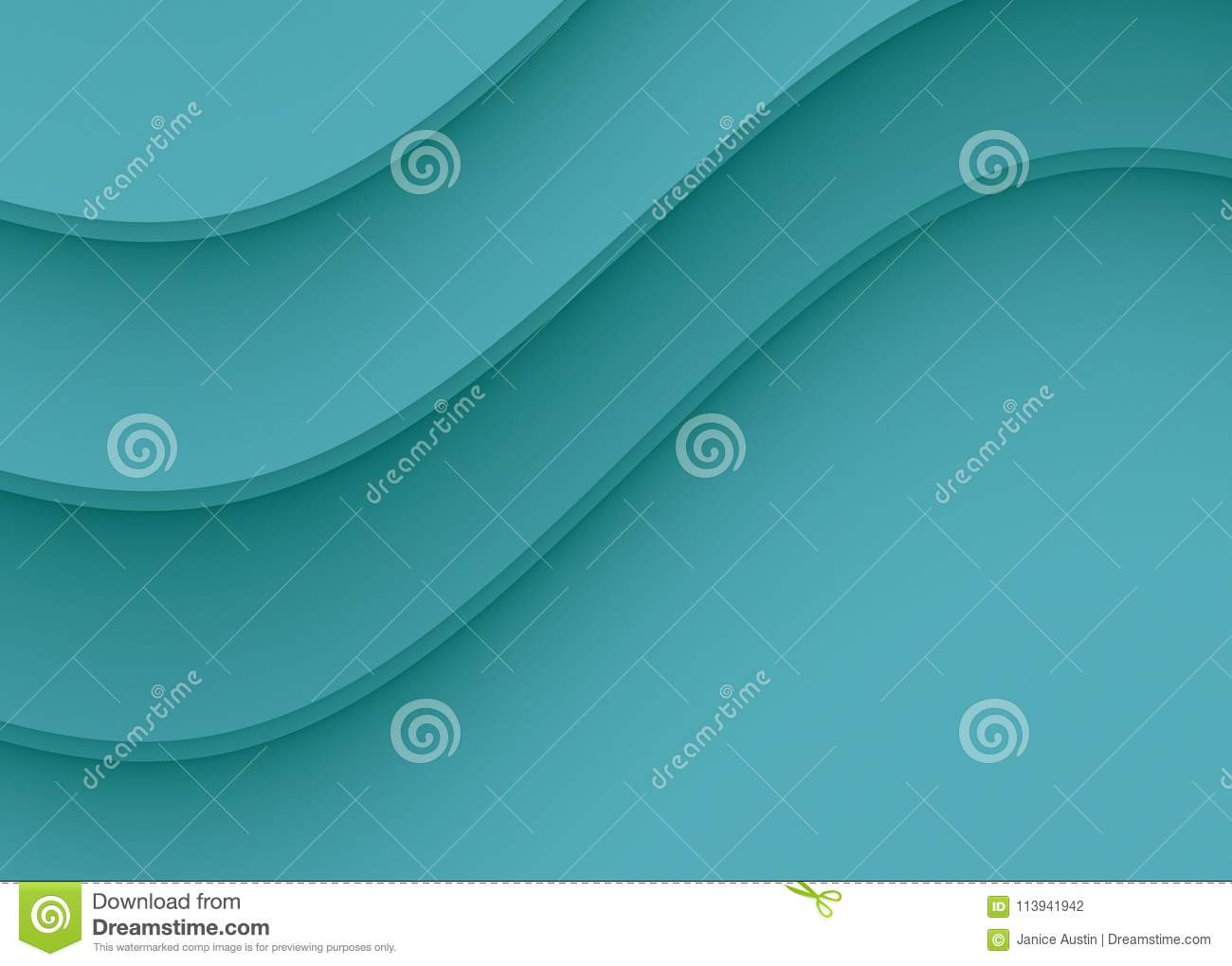 Elegant sapphire blue smooth gentle curves abstract background design