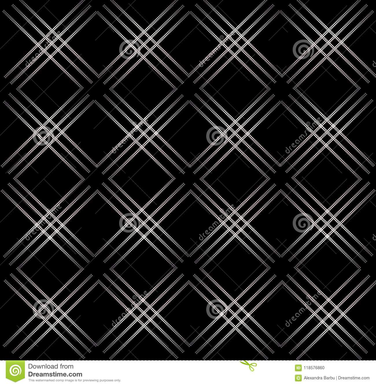 Elegant abstract geometric seamless pattern black background