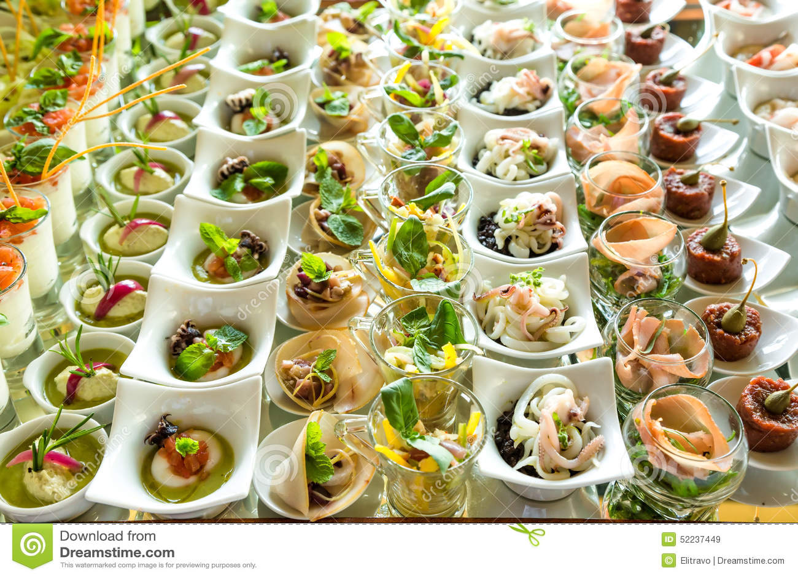 Elegant Appetizers Stock Photo Image 52237449