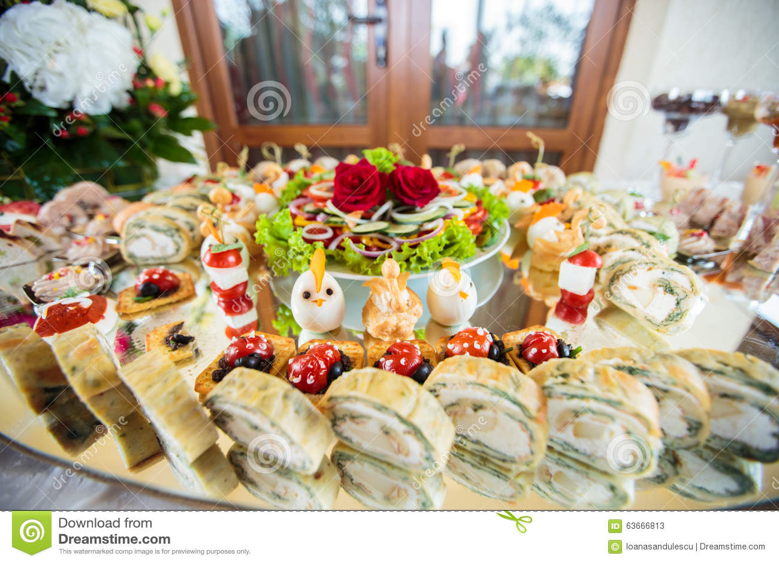 elegant appetizers stock image image of garnish gourmet 63666813