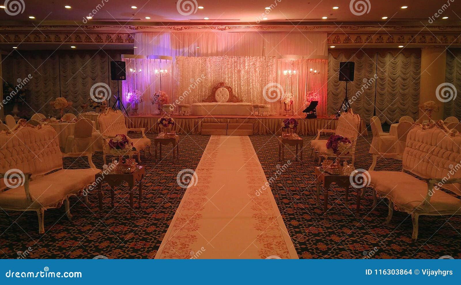 Elegant Banquet Hall Wedding Decorations Stock Photo Image