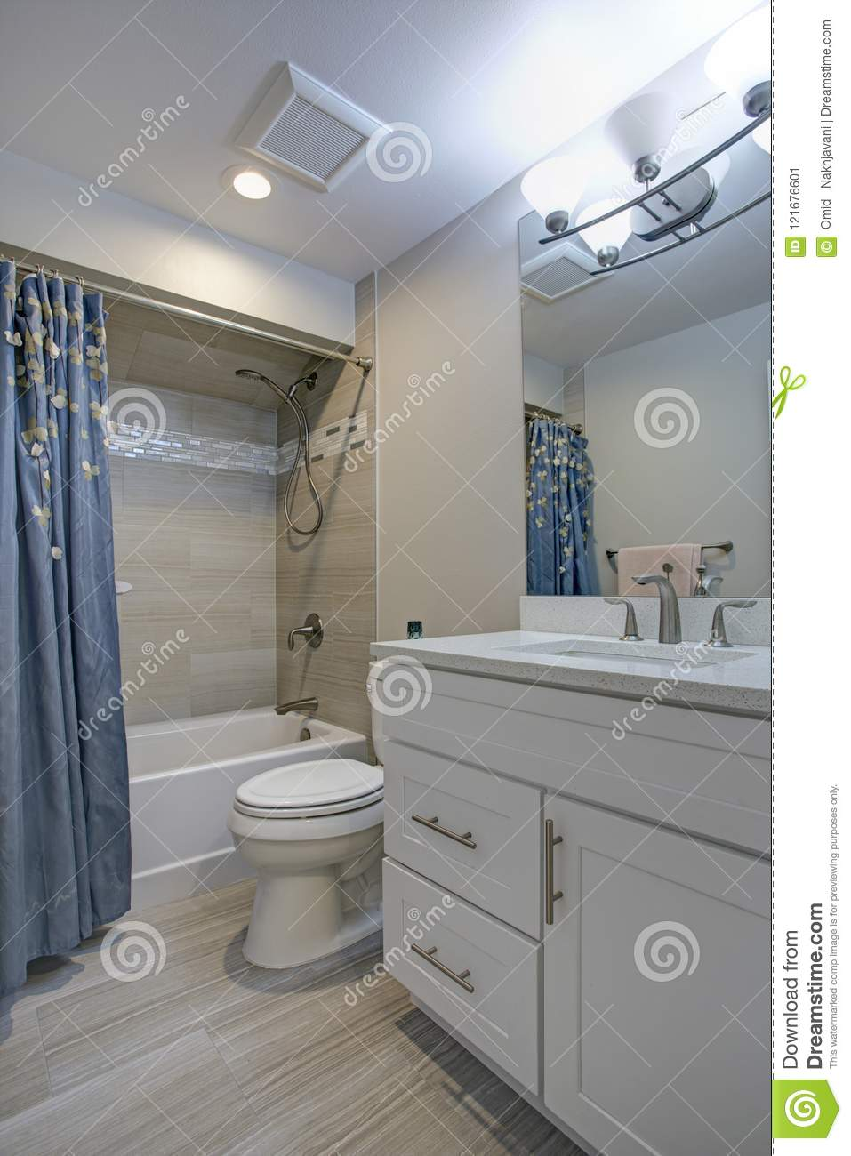 Elegant Bathroom With Marble Bathroom Floor Stock Image Image Of Building Glass 121676601