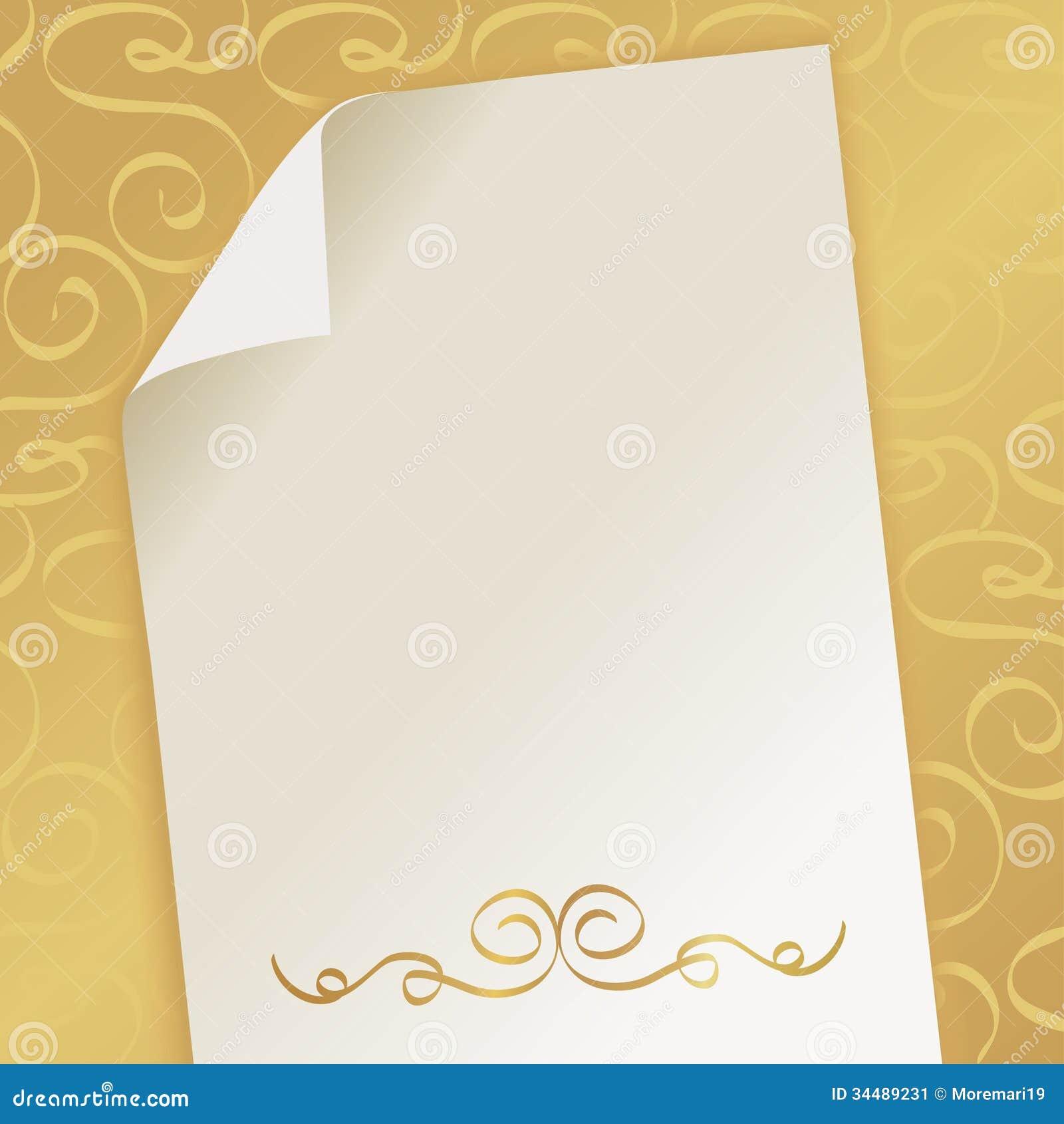 Elegant Beautiful Background With Monogram Stock Image
