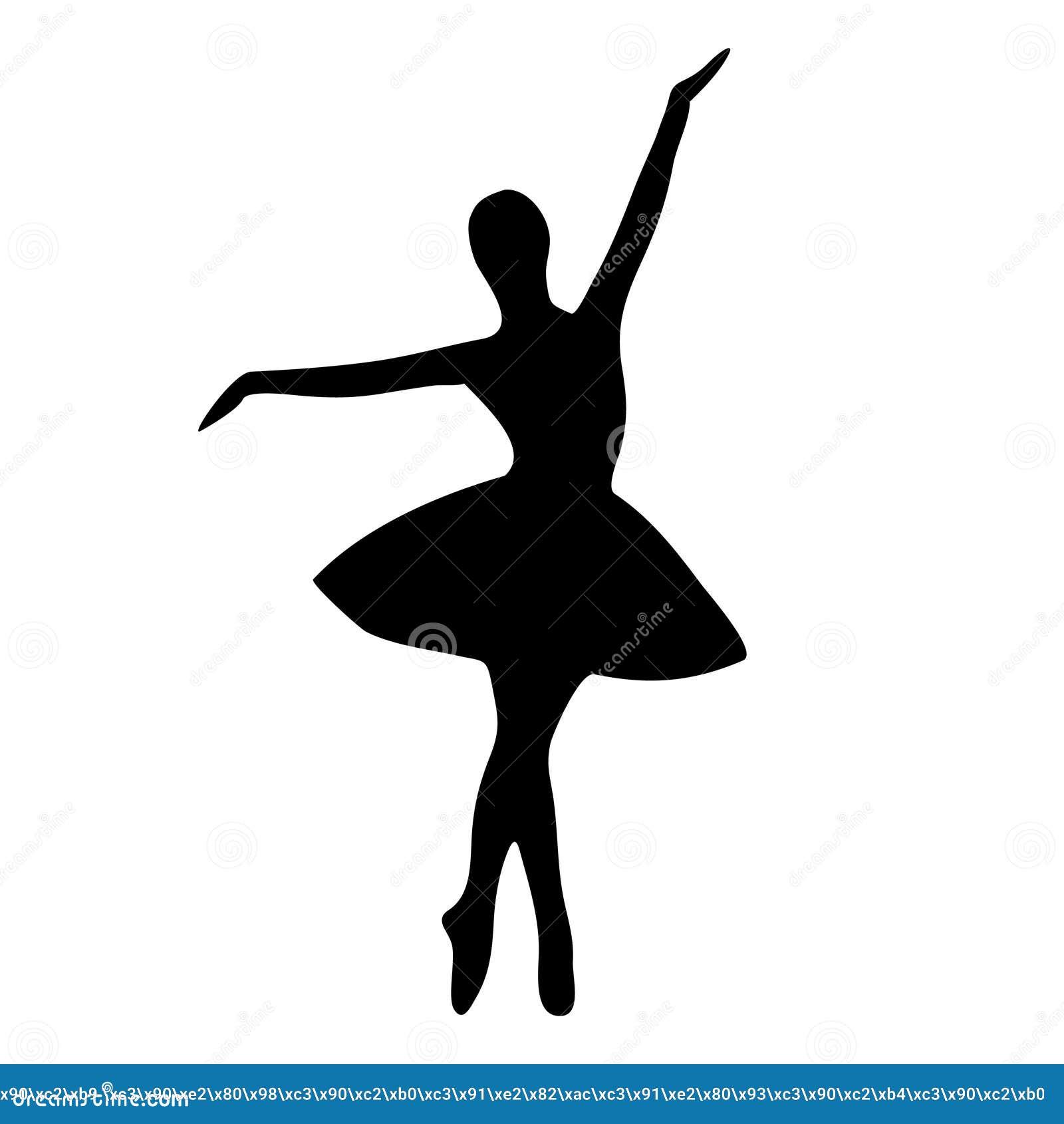 88724403e529c Elegant, Beautiful Silhouette Of A Dancing Ballerina Stock Vector ...