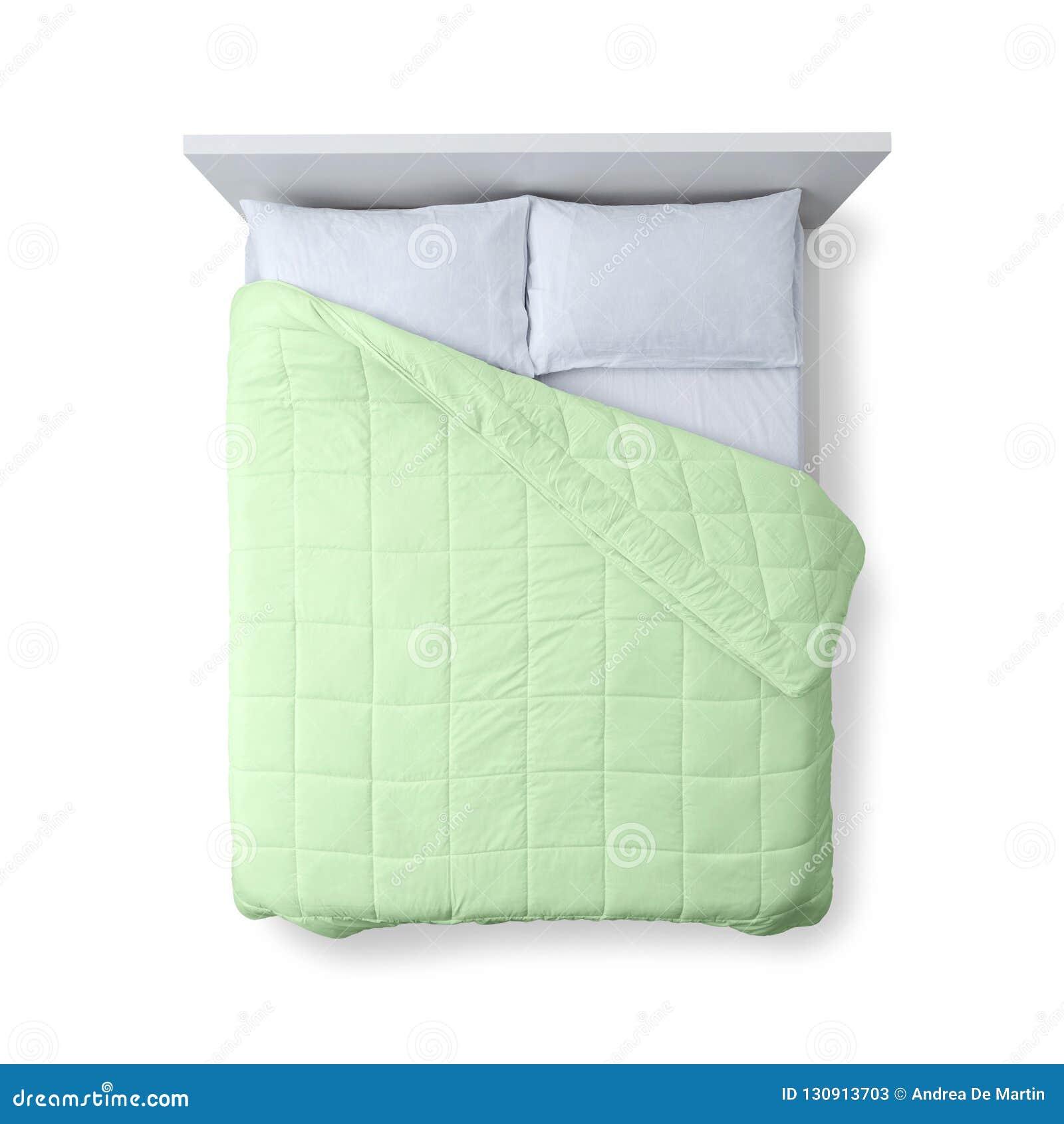 Elegant Bed Top View Stock Image. Image Of Furniture