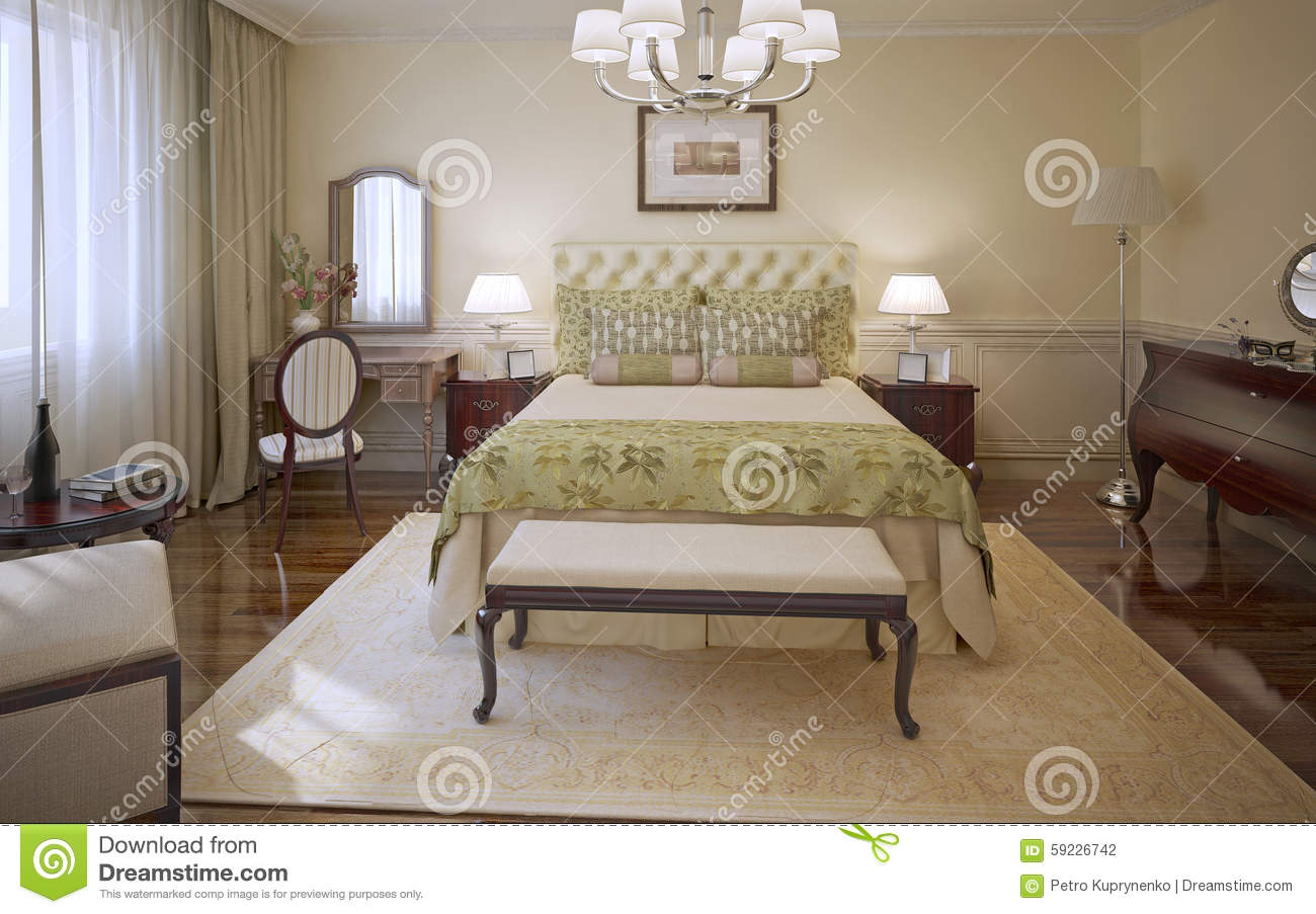 Elegant bedroom modern style stock illustration image Elegant master bedroom bedding