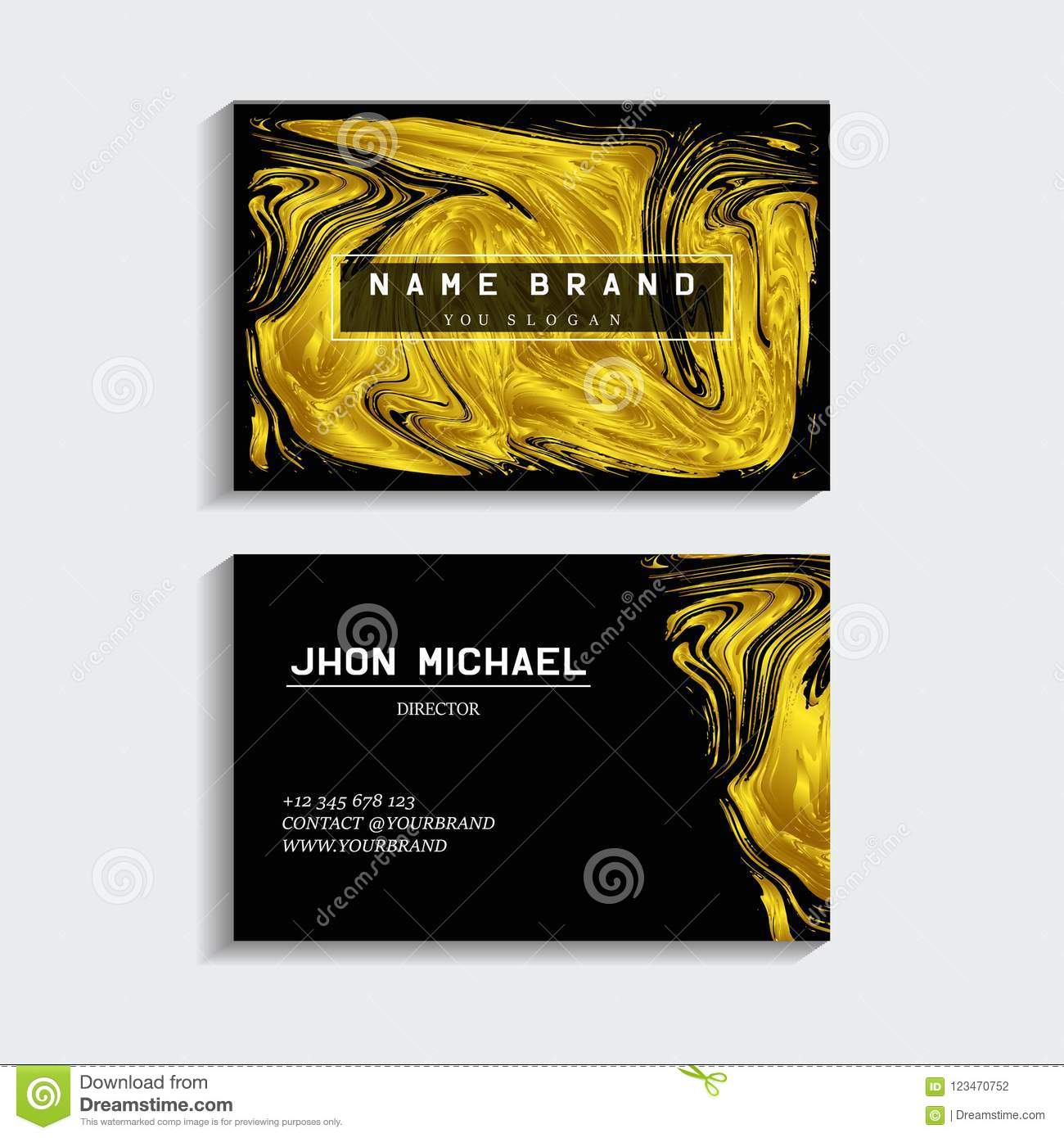Black And Gold Business Card Editorial Photography Illustration Of