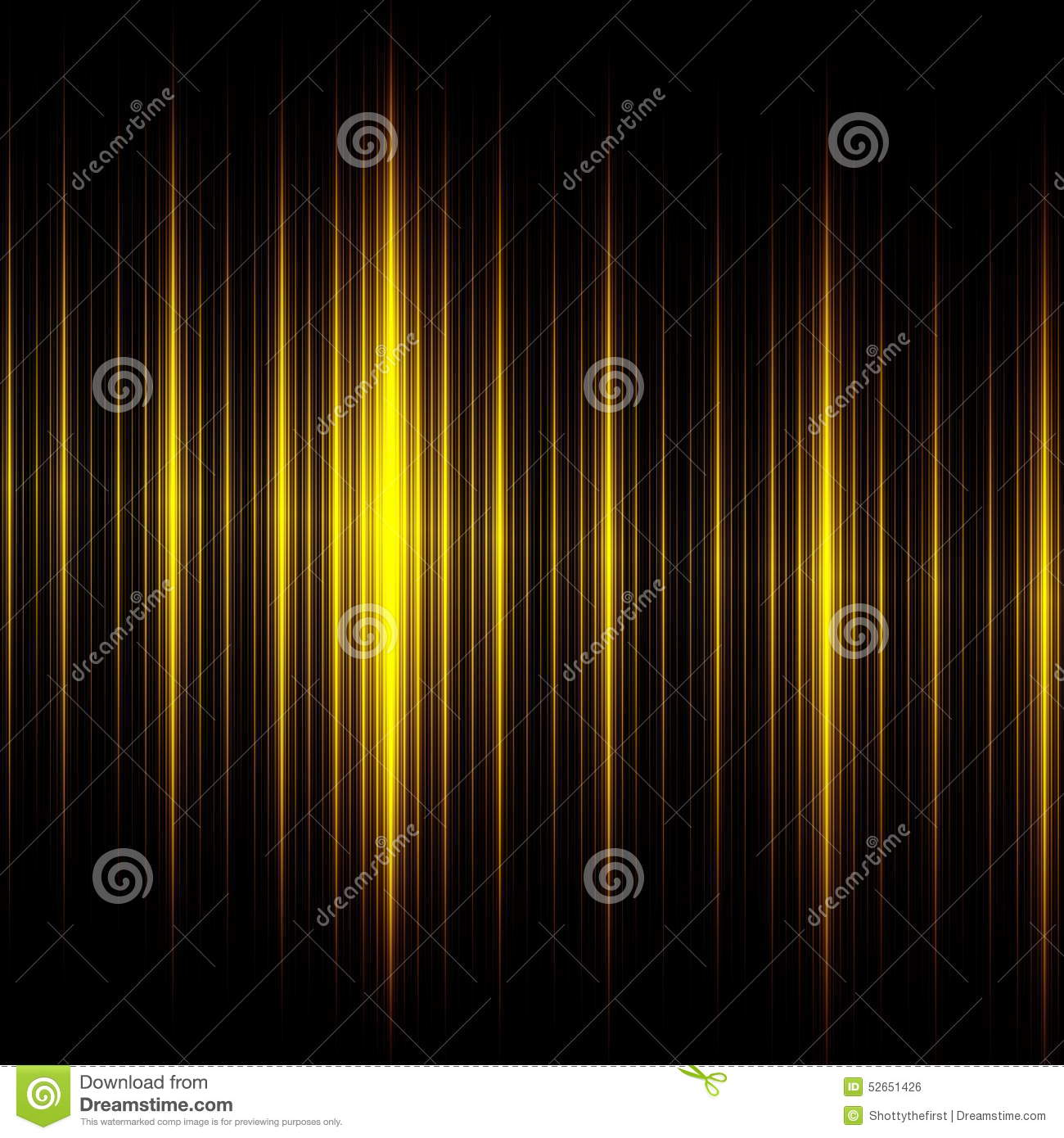Elegant Black Yellow Lines Background. Beautiful Abstract Design. Creative Modern Technology Illustration. Dark Glowing Texture.