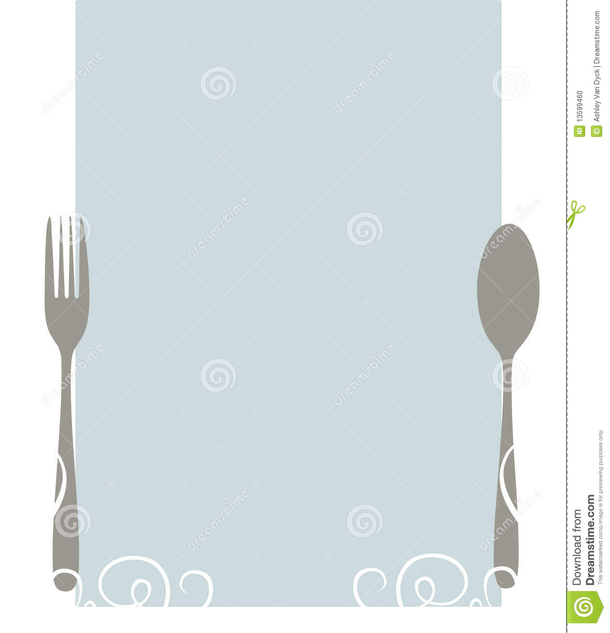 Elegant blank menu stock vector. Illustration of elegant - 13599460