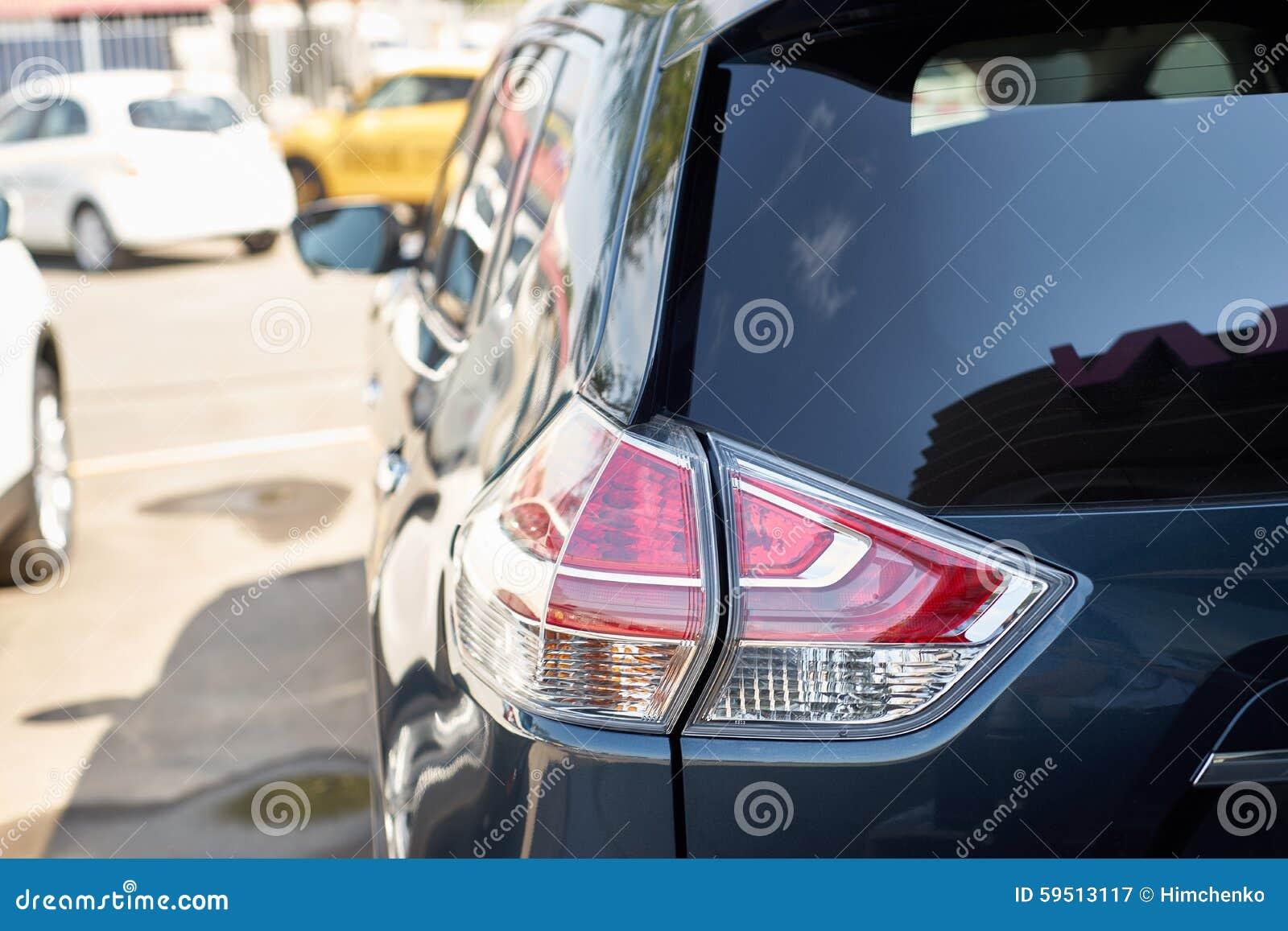 Download Wallpaper 3415x3415 Bmw Headlights Car Cloudy: Elegant Blue Car Headlight Outdoors Stock Photo