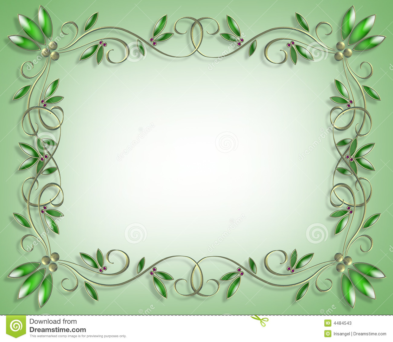 Holiday greeting background border or frame with copy space