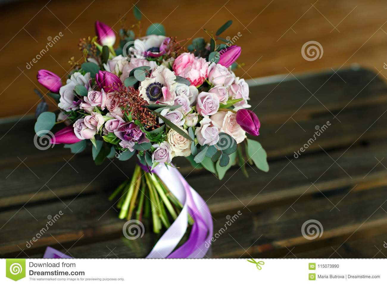 Elegant elegant bouquet of different flowers in purple hues tie download elegant elegant bouquet of different flowers in purple hues tie stock photo image izmirmasajfo